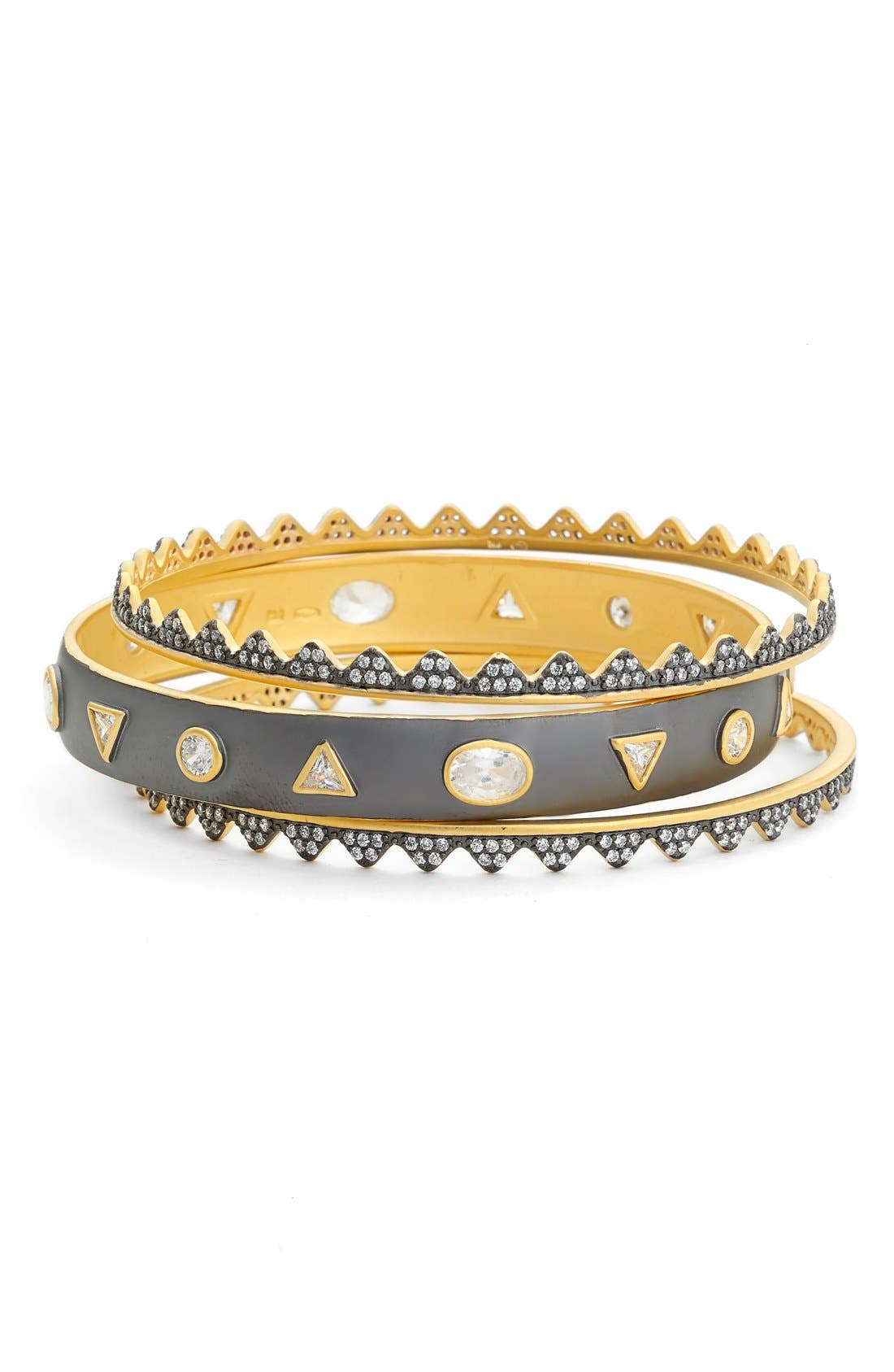 FREIDA ROTHMAN 'Crown Stack' Geometric Edge Stacking Bracelet