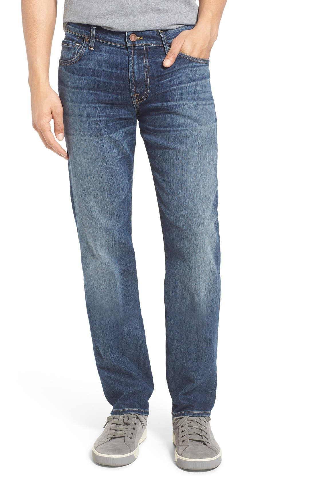 Main Image - 7 For All Mankind® Slimmy Airweft Slim Fit Jeans (Riptide)