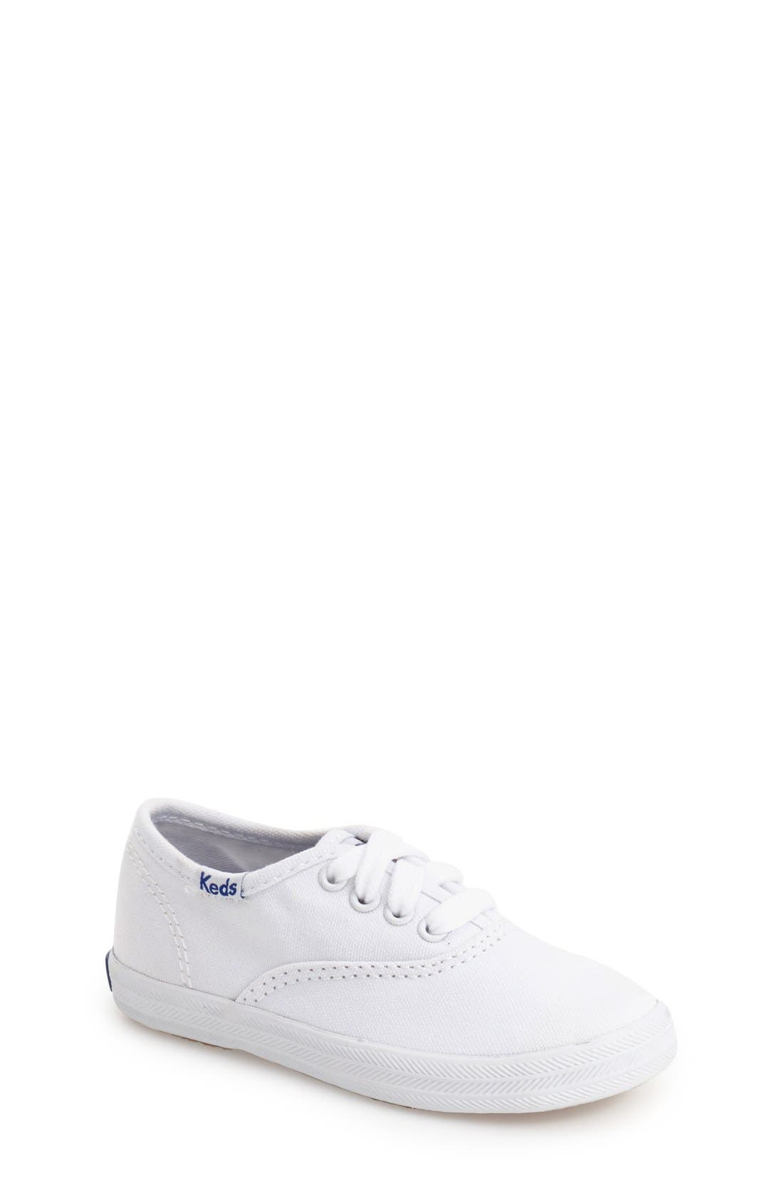 'Champion Canvas' Sneaker,                             Main thumbnail 1, color,                             White