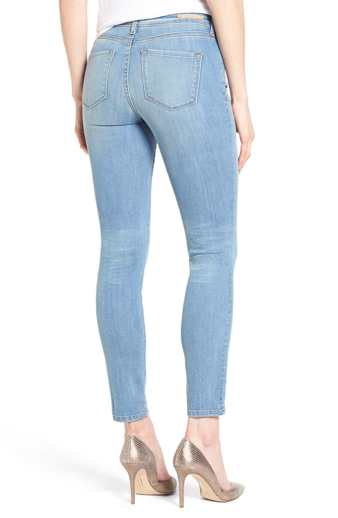 Alternate Image 2  - Mavi Jeans 'Adriana' Distressed Stretch Skinny Ankle Jeans