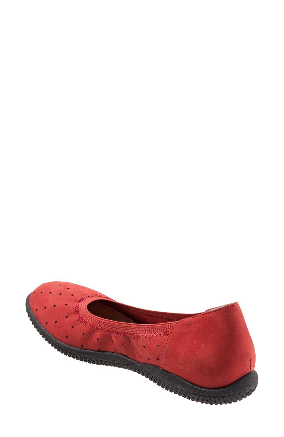 Alternate Image 2  - SoftWalk® 'Hampshire' Dot Perforated Ballet Flat (Women)