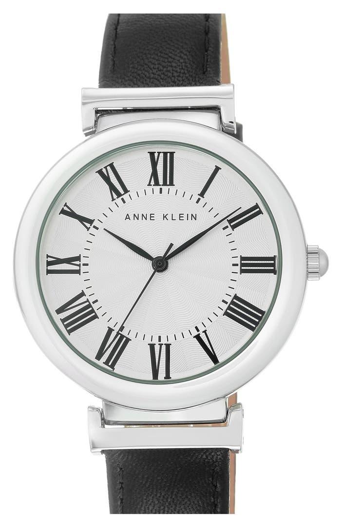 Anne klein leather strap watch 38mm nordstrom for Anne klein leather strap