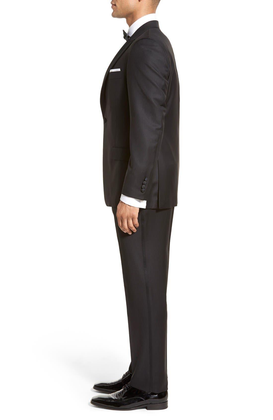 Alternate Image 3  - Hickey Freeman Classic B Fit Tasmanian Wool Tuxedo