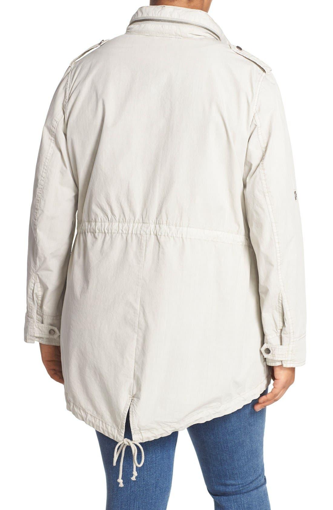 Parachute Hooded Cotton Utility Jacket,                             Alternate thumbnail 2, color,                             Moonbeam