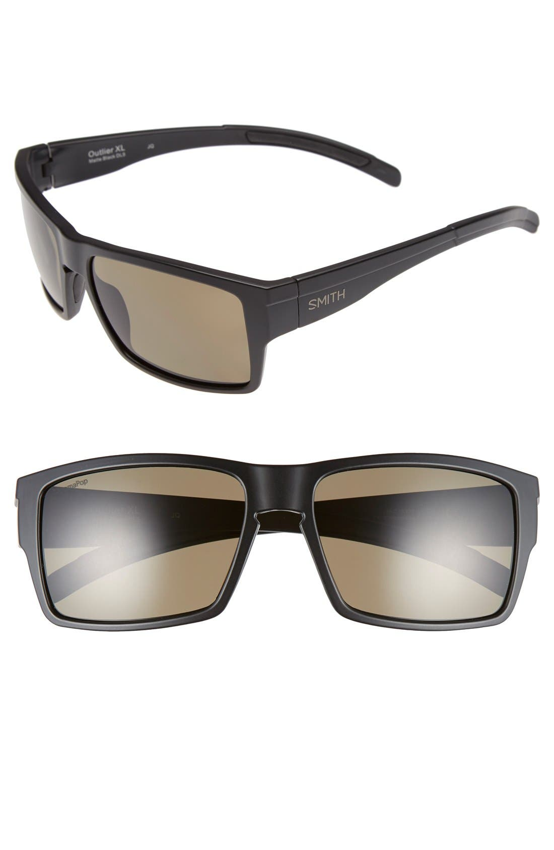 82a211311b Smith  Outlier Xl  56Mm Polarized Sunglasses - Matte Black  Polarized Green