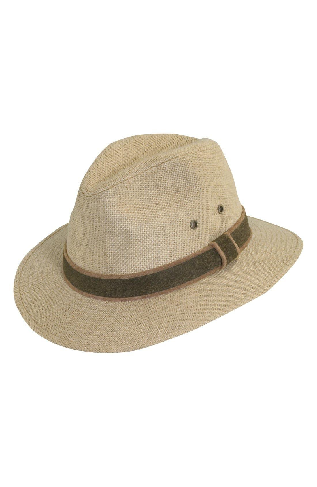 Hemp Safari Hat,                             Main thumbnail 1, color,                             Camel