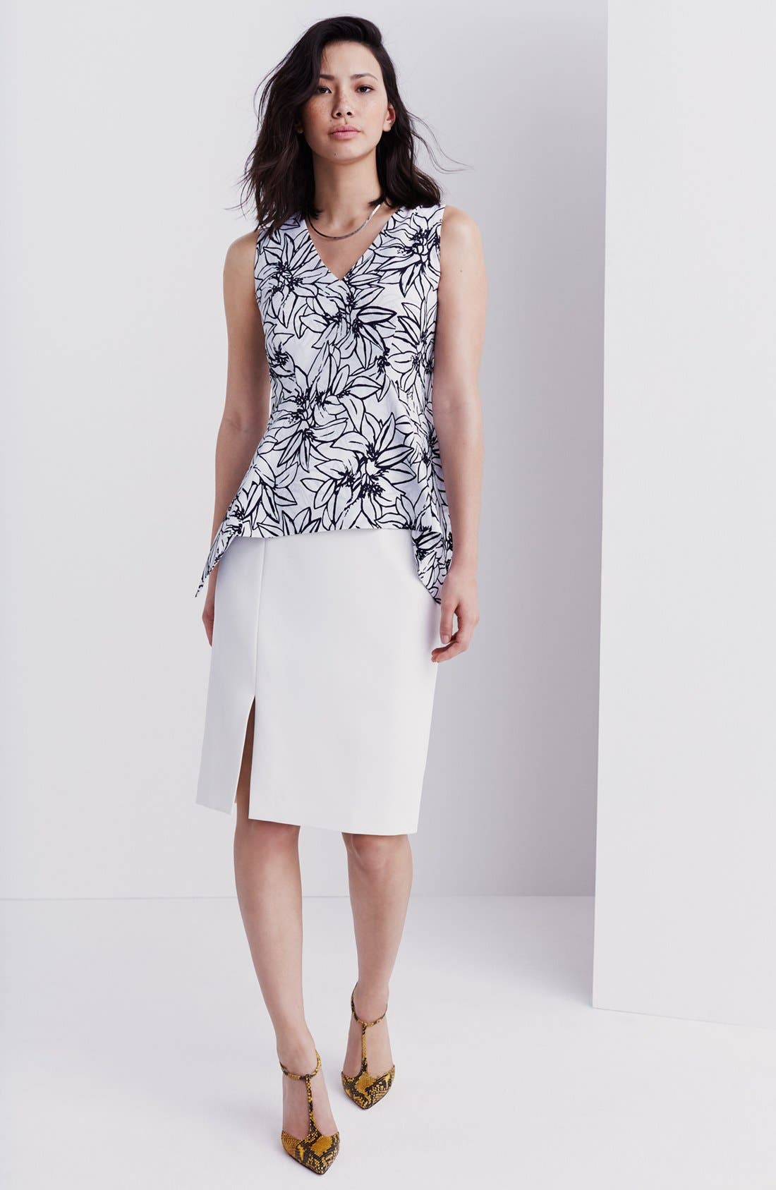 Alternate Image 7  - Ellen Tracy Asymmetrical Front Slit Pencil Skirt