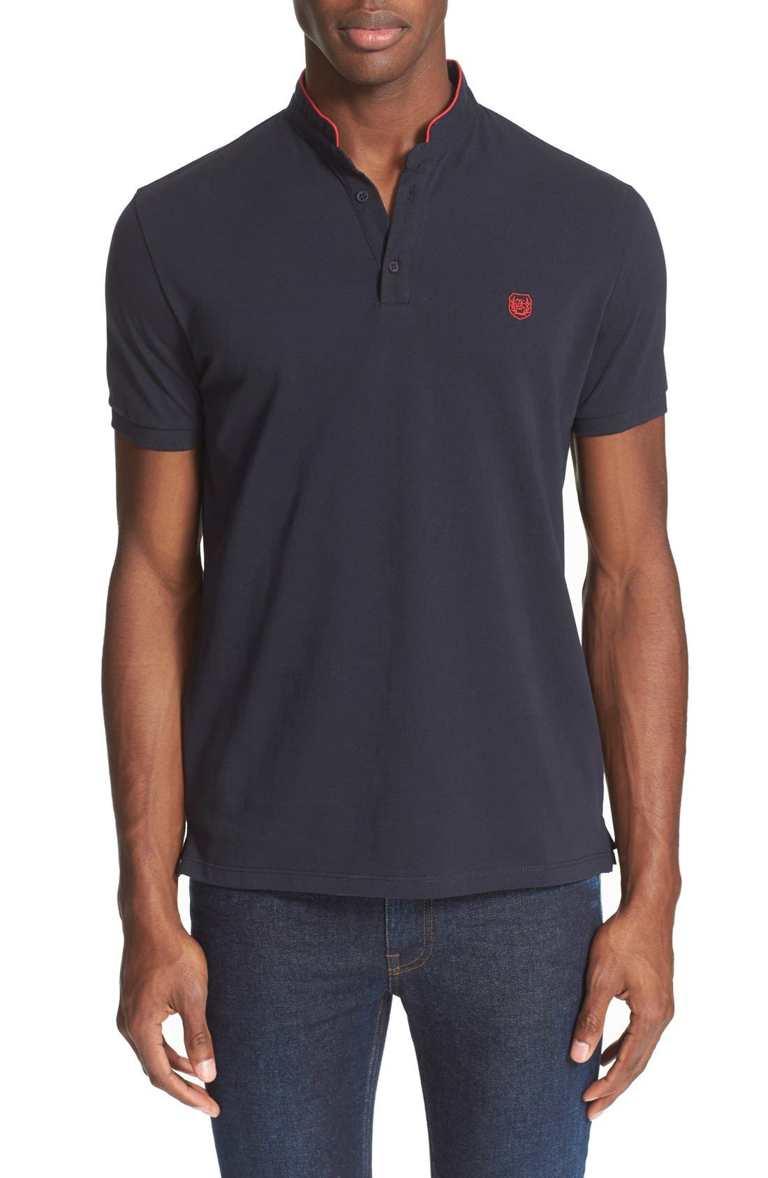 The Kooples Band Collar Polo