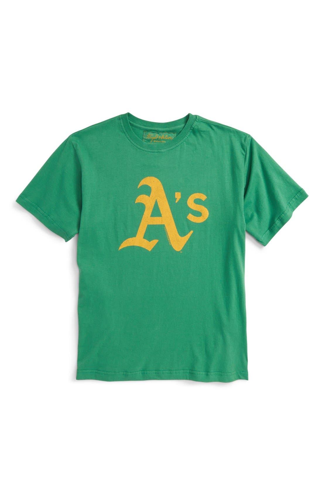 'Oakland Athletics' T-Shirt,                         Main,                         color, Green