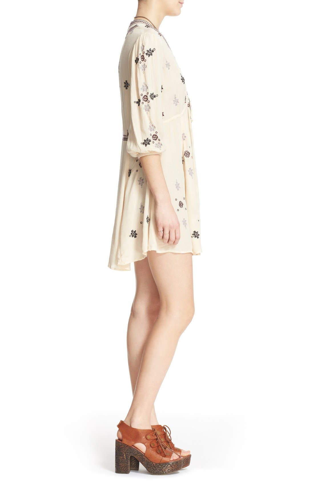 Alternate Image 3  - Free People 'Star Gazer' Embroidered Tunic Dress