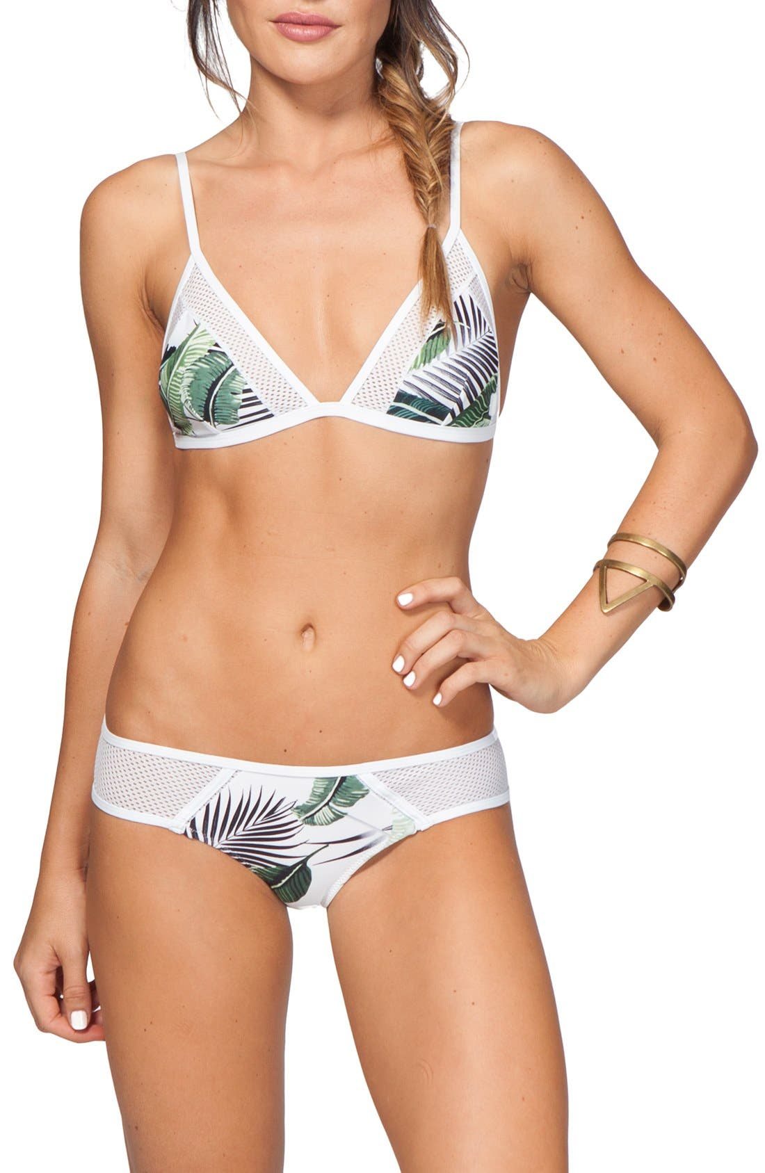 Alternate Image 3  - Rip Curl 'Palm Island' Floral Print Triangle Bikini Top