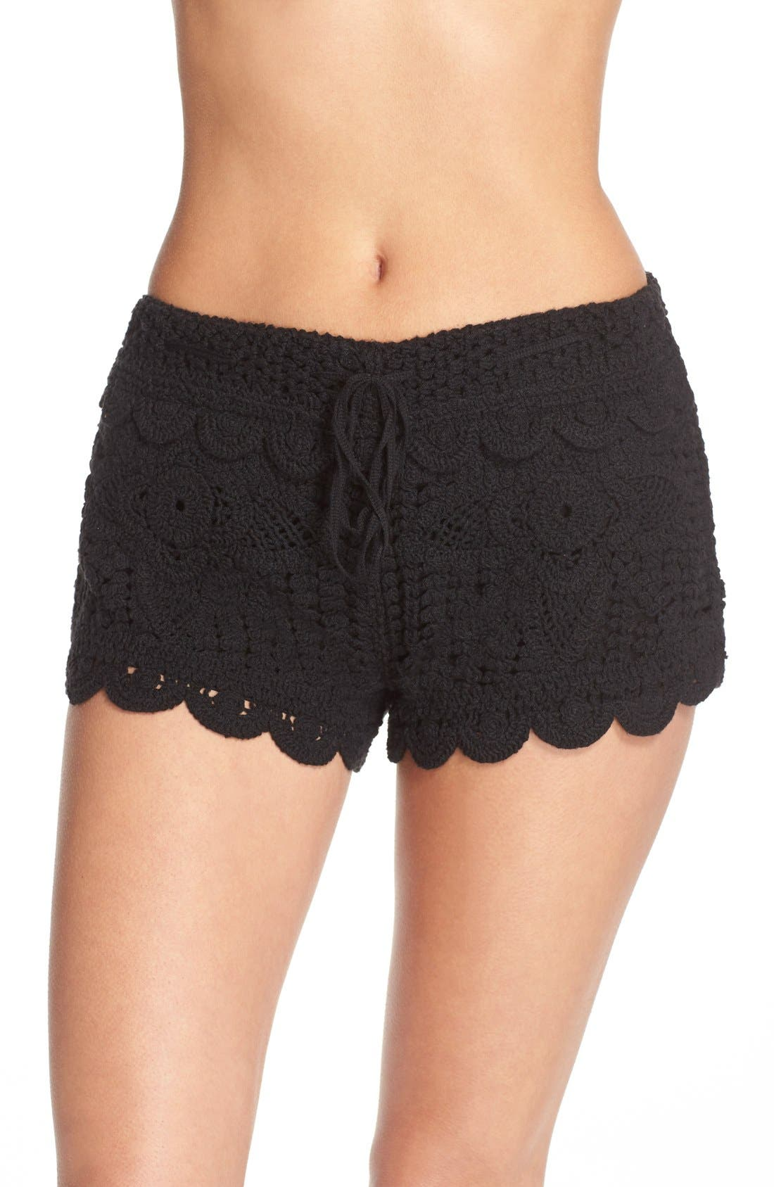Surf Gypsy Crochet Cover-Up Shorts