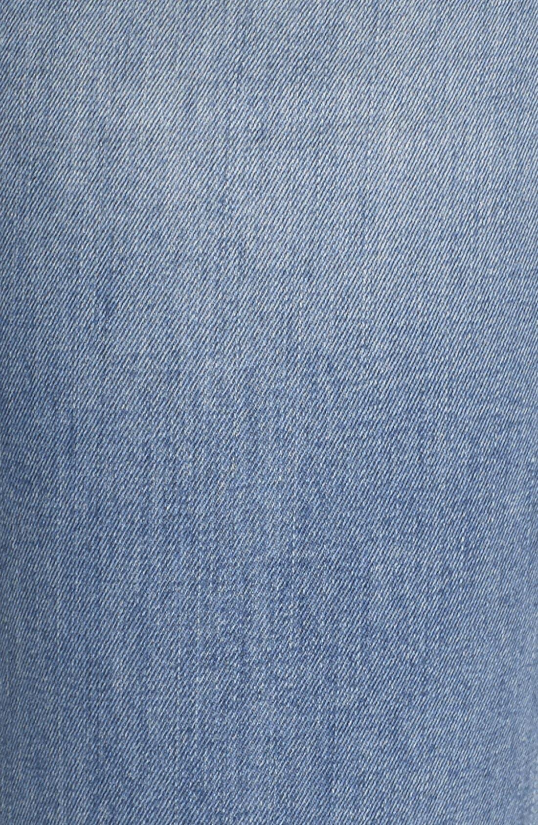 Alternate Image 5  - SP Black Distressed Skinny Jeans (Light Wash)