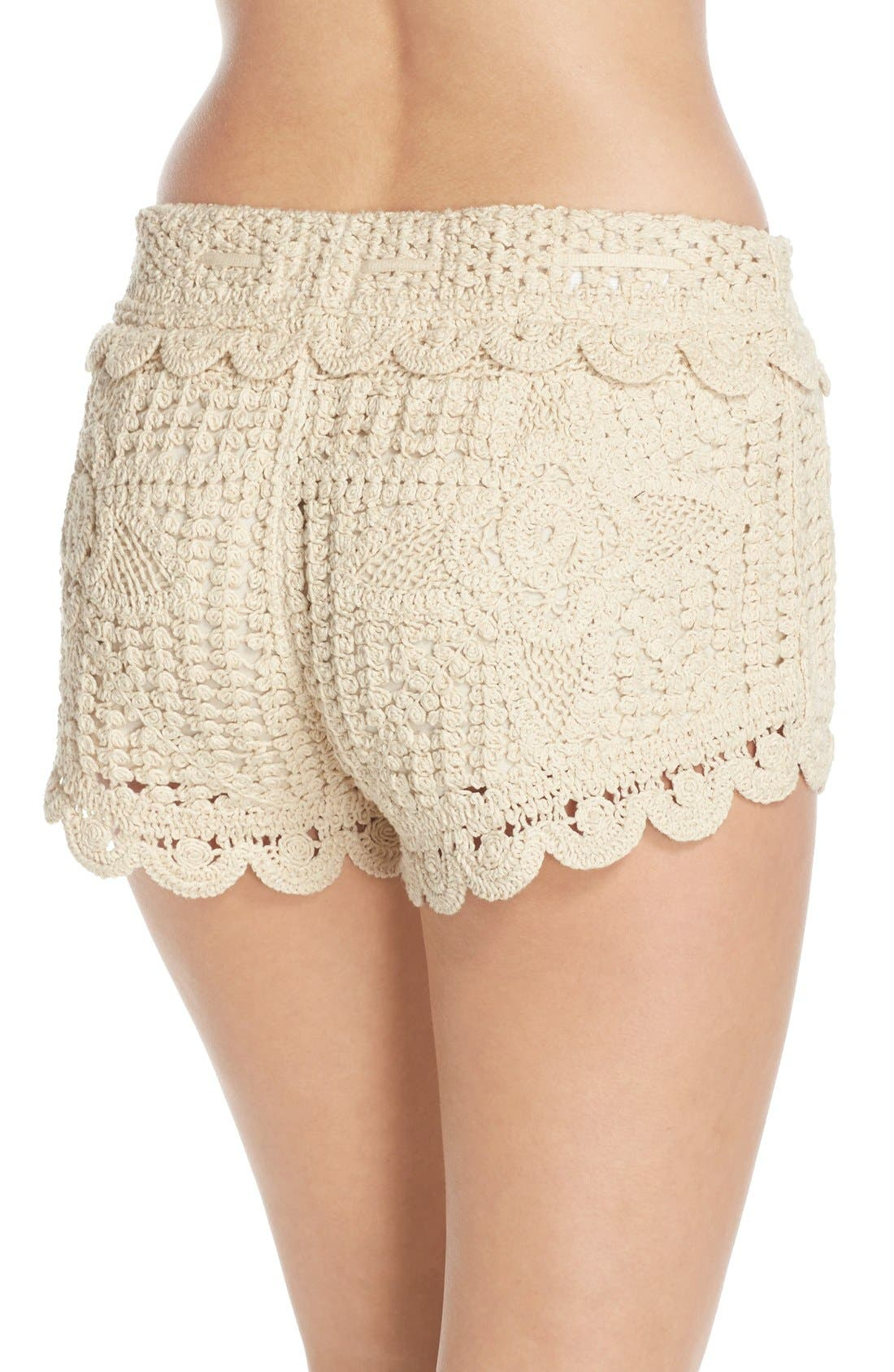 Alternate Image 2  - Surf Gypsy Crochet Cover-Up Shorts