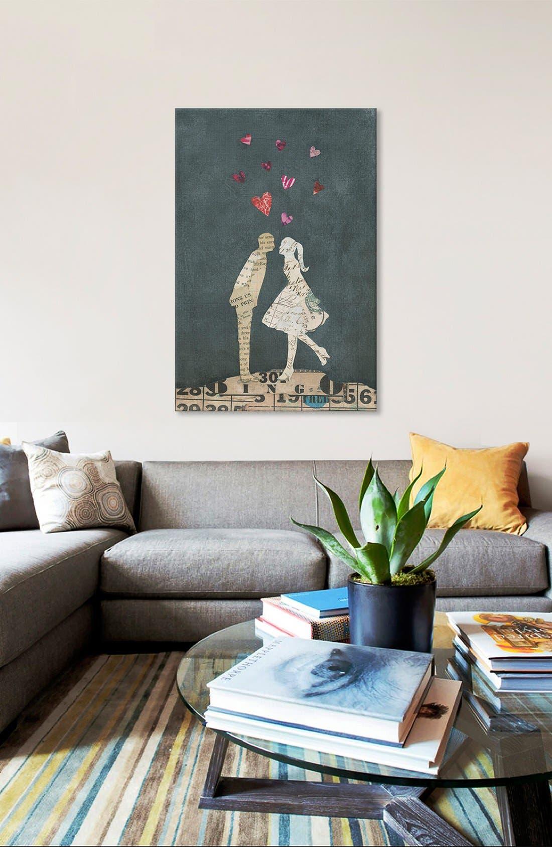 Alternate Image 2  - iCanvas 'Cute Couple I' Giclée Print Canvas Art