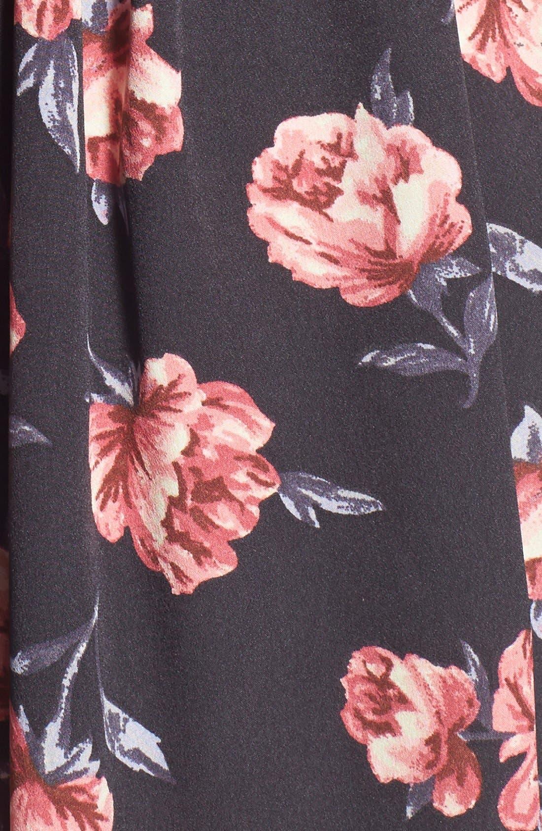 Alternate Image 5  - Band of Gypsies Floral Print Skater Dress