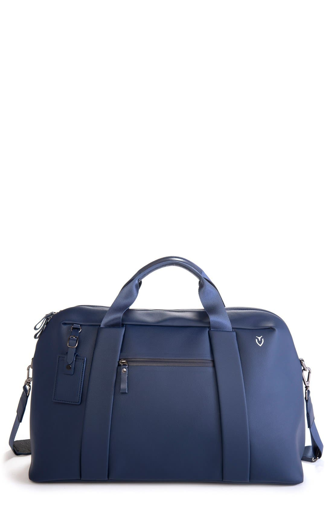 'Signature' Large Duffel Bag,                             Main thumbnail 1, color,                             Pebbled Navy