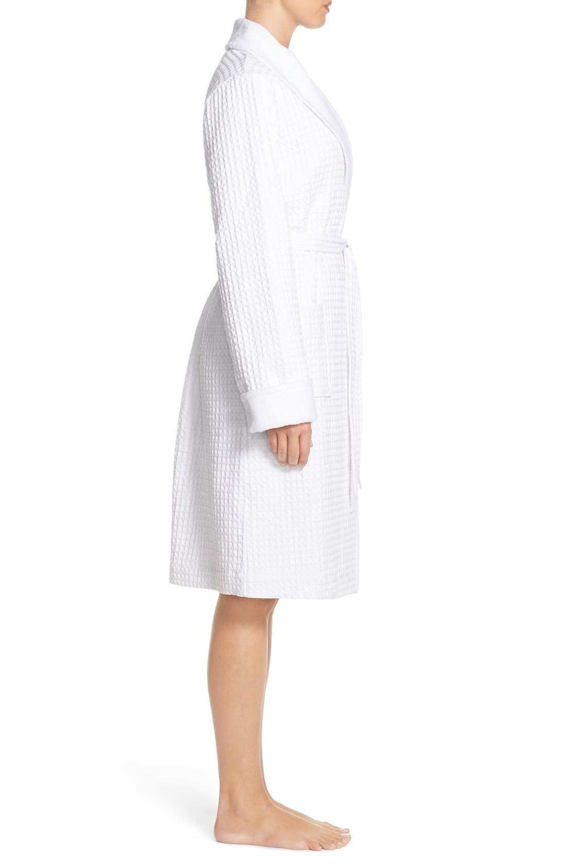 Alternate Image 3  - Nordstrom Lingerie Terry Cotton Robe