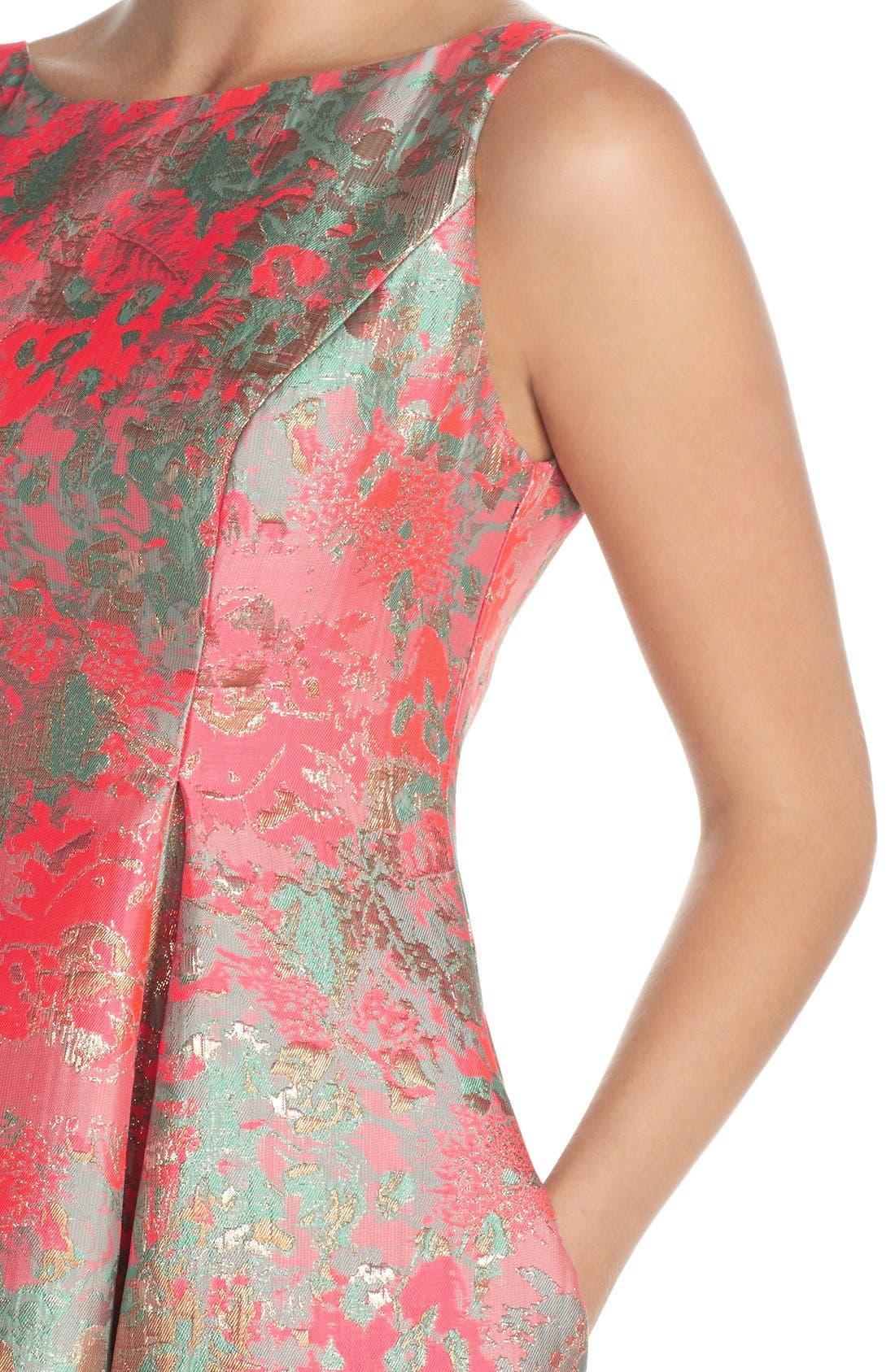 Alternate Image 5  - Adrianna Papell Metallic Jacquard Fit & Flare Dress