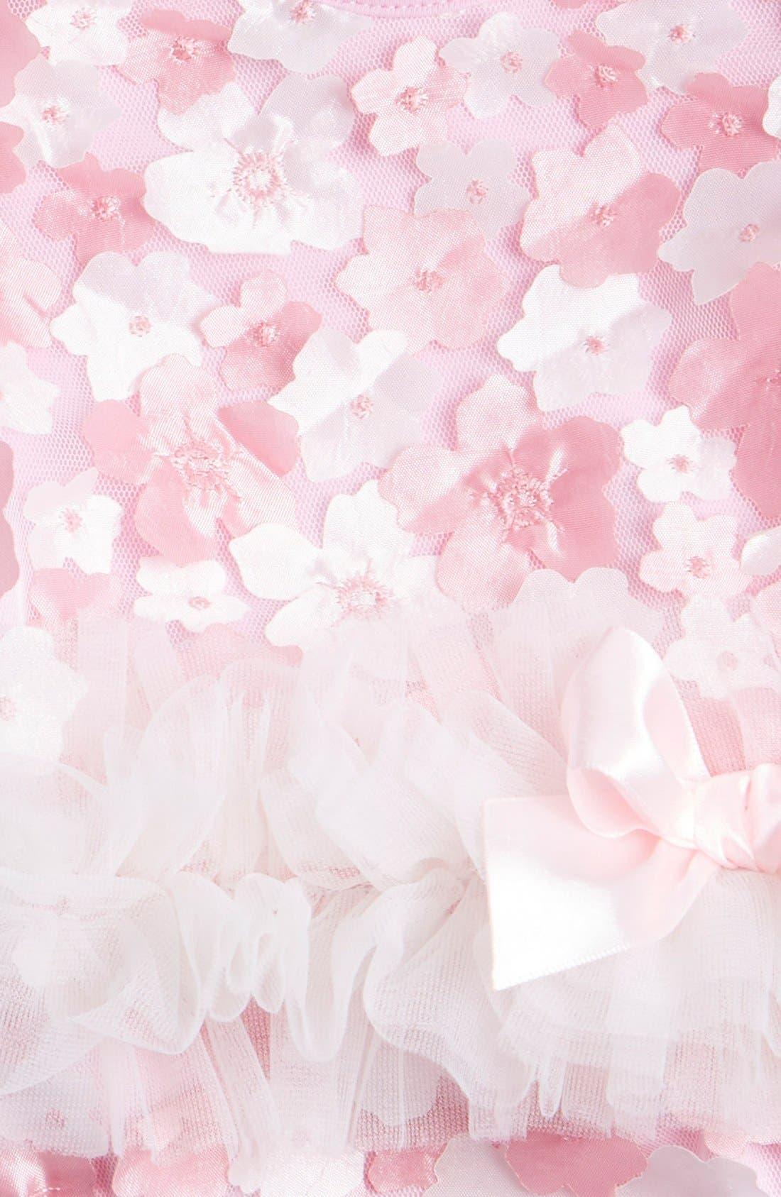 Tulle Bodysuit,                             Alternate thumbnail 3, color,                             Pink