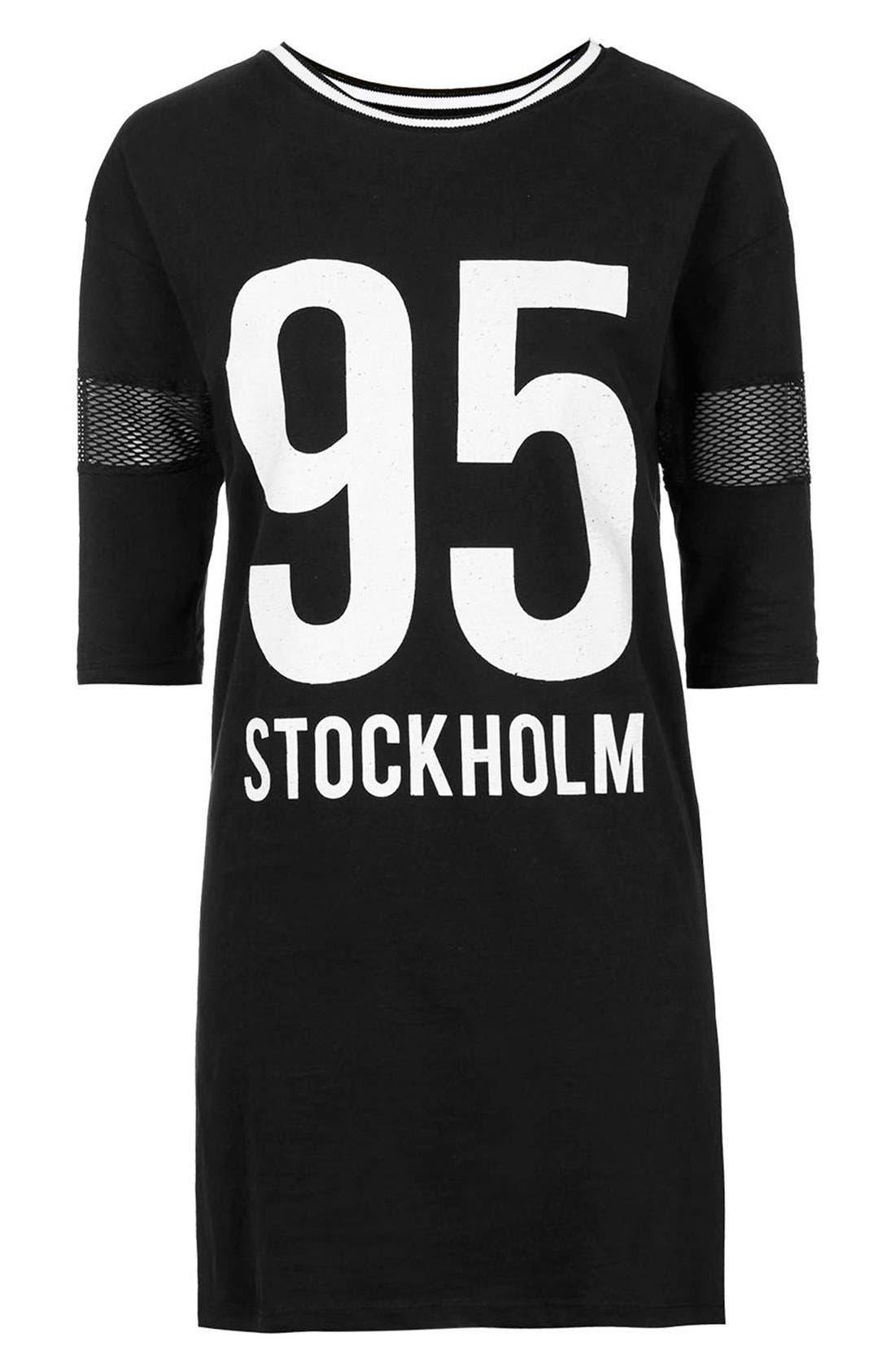 Alternate Image 4  - Topshop 'Stockholm' T-Shirt Dress