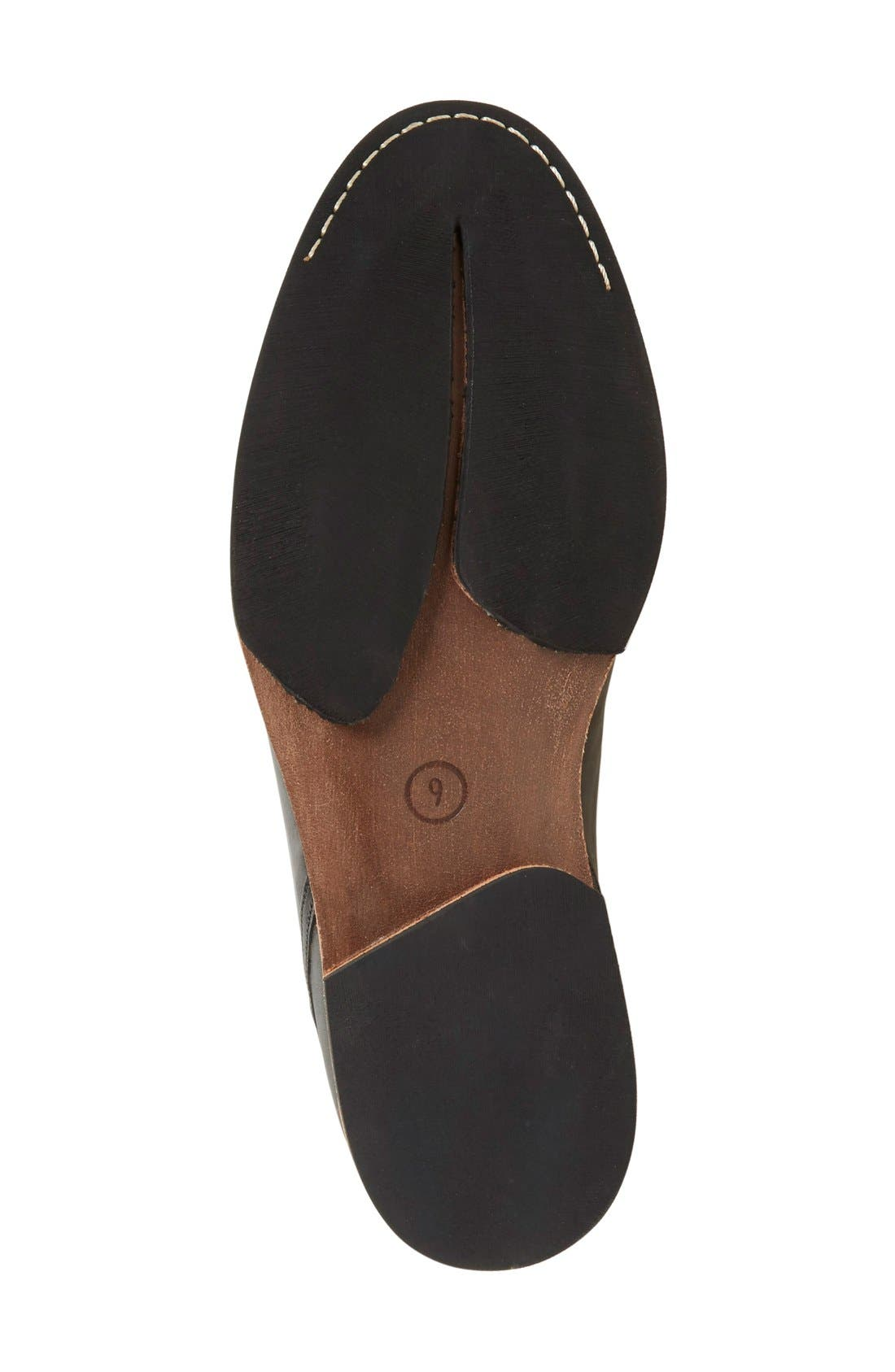 'Wodehouse Lost History' Cap Toe Oxford,                             Alternate thumbnail 4, color,                             Burnished Black Leather