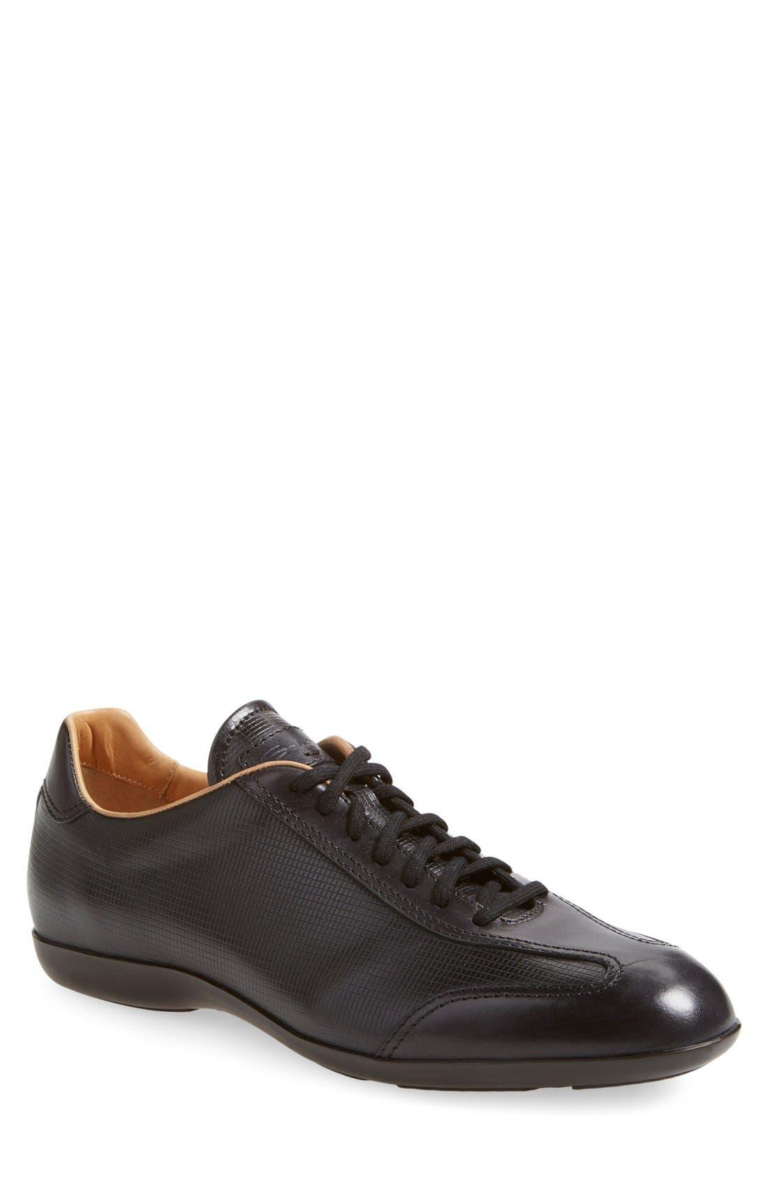 'Cortez' Sneaker,                             Main thumbnail 1, color,                             Black/ Black Leather