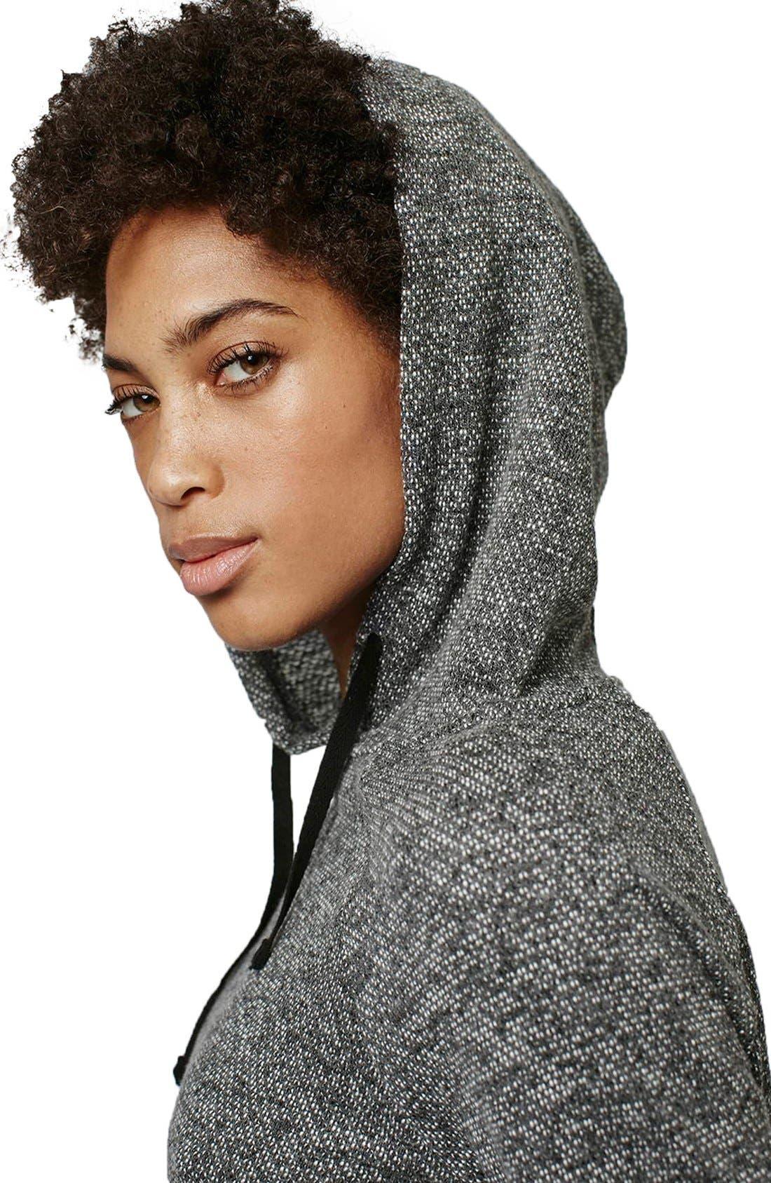 Alternate Image 5  - Topshop Knit Crop Lounge Hoodie