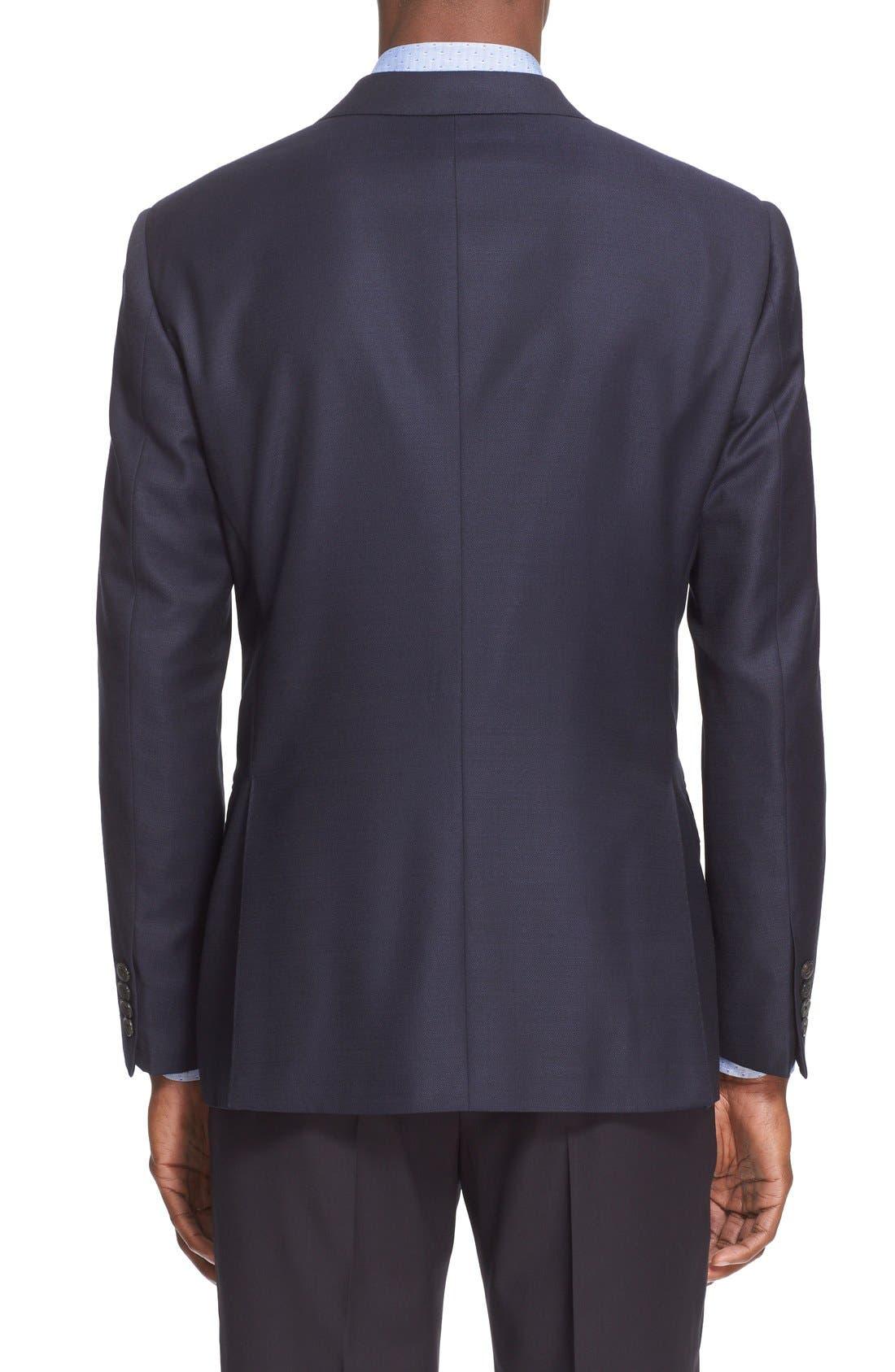 Alternate Image 2  - Armani Collezioni G-Line Trim Fit Wool Blazer