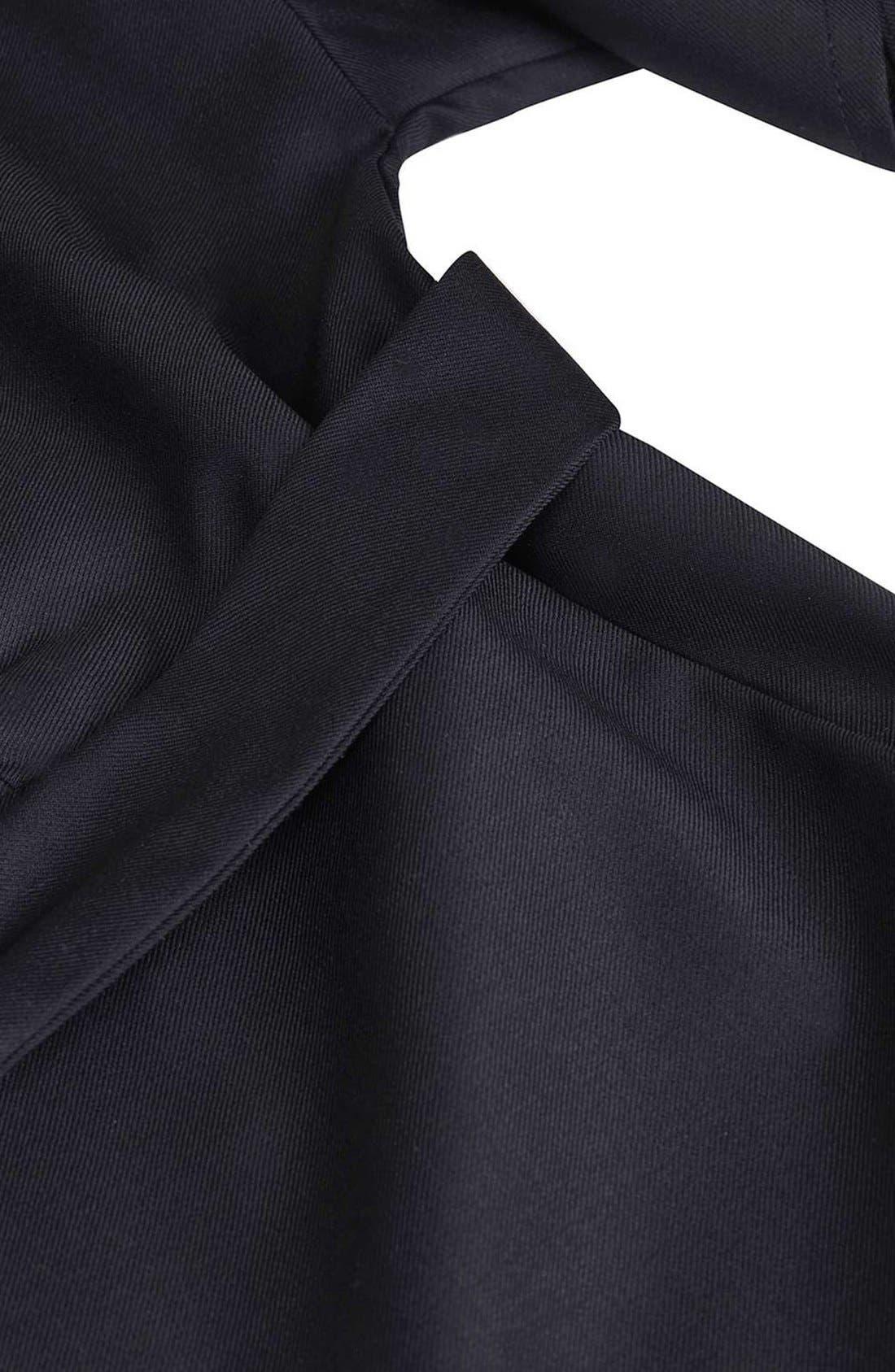 Alternate Image 5  - Topshop Boutique Wool Kimono Wrap Jumpsuit