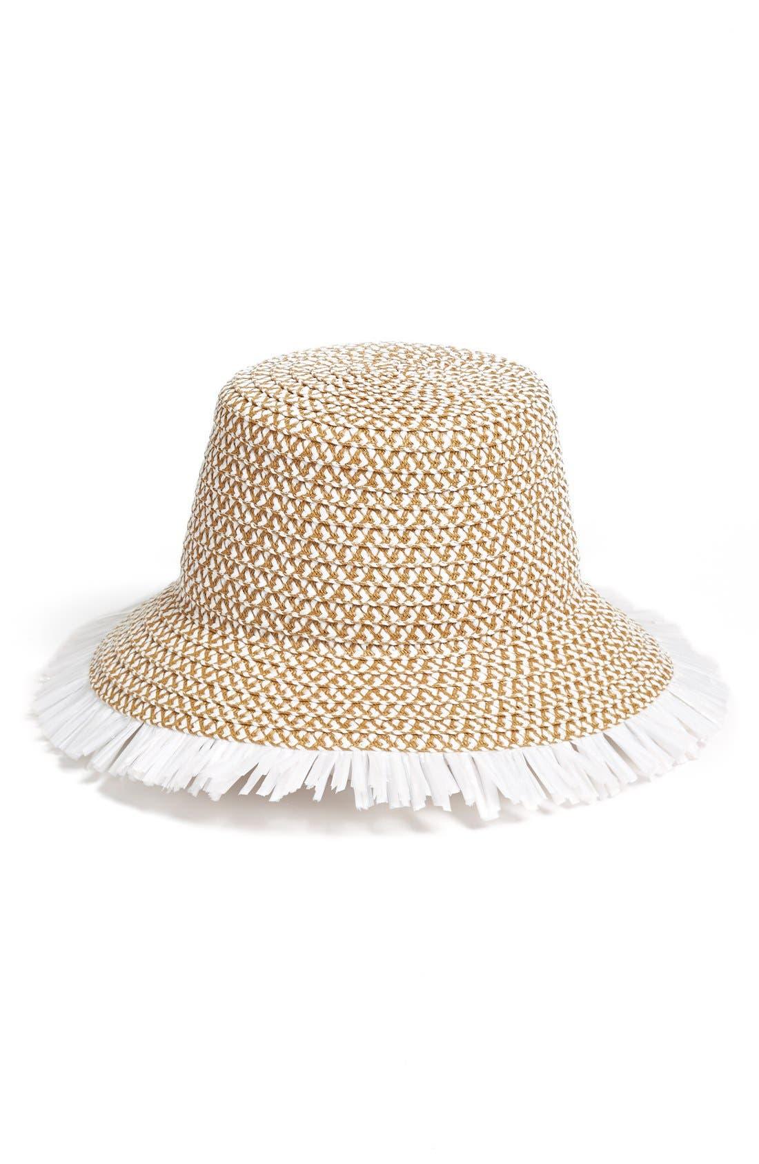 'TIKI' BUCKET HAT - WHITE