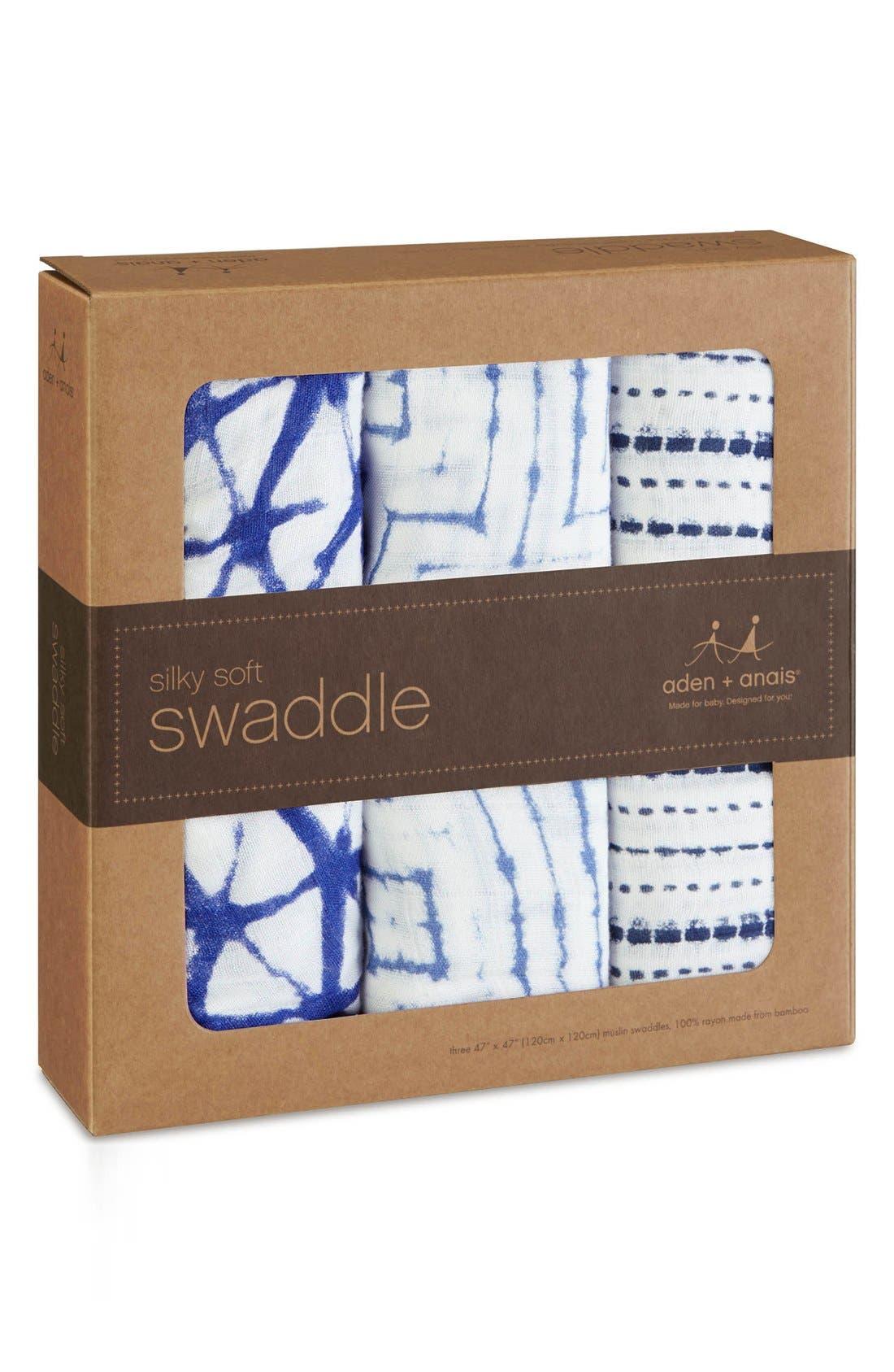 'Silky Soft' Swaddling Cloths,                             Alternate thumbnail 2, color,                             Blue