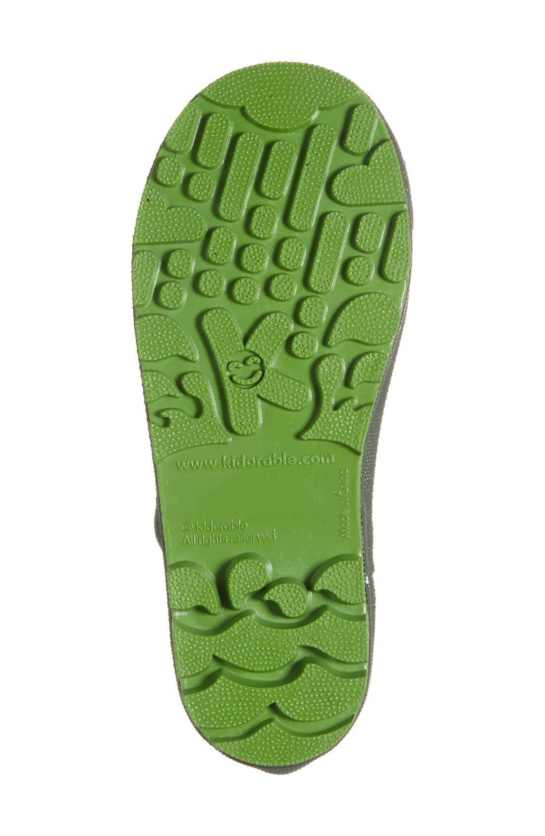 'Frog' Waterproof Rain Boot,                             Alternate thumbnail 4, color,                             Green