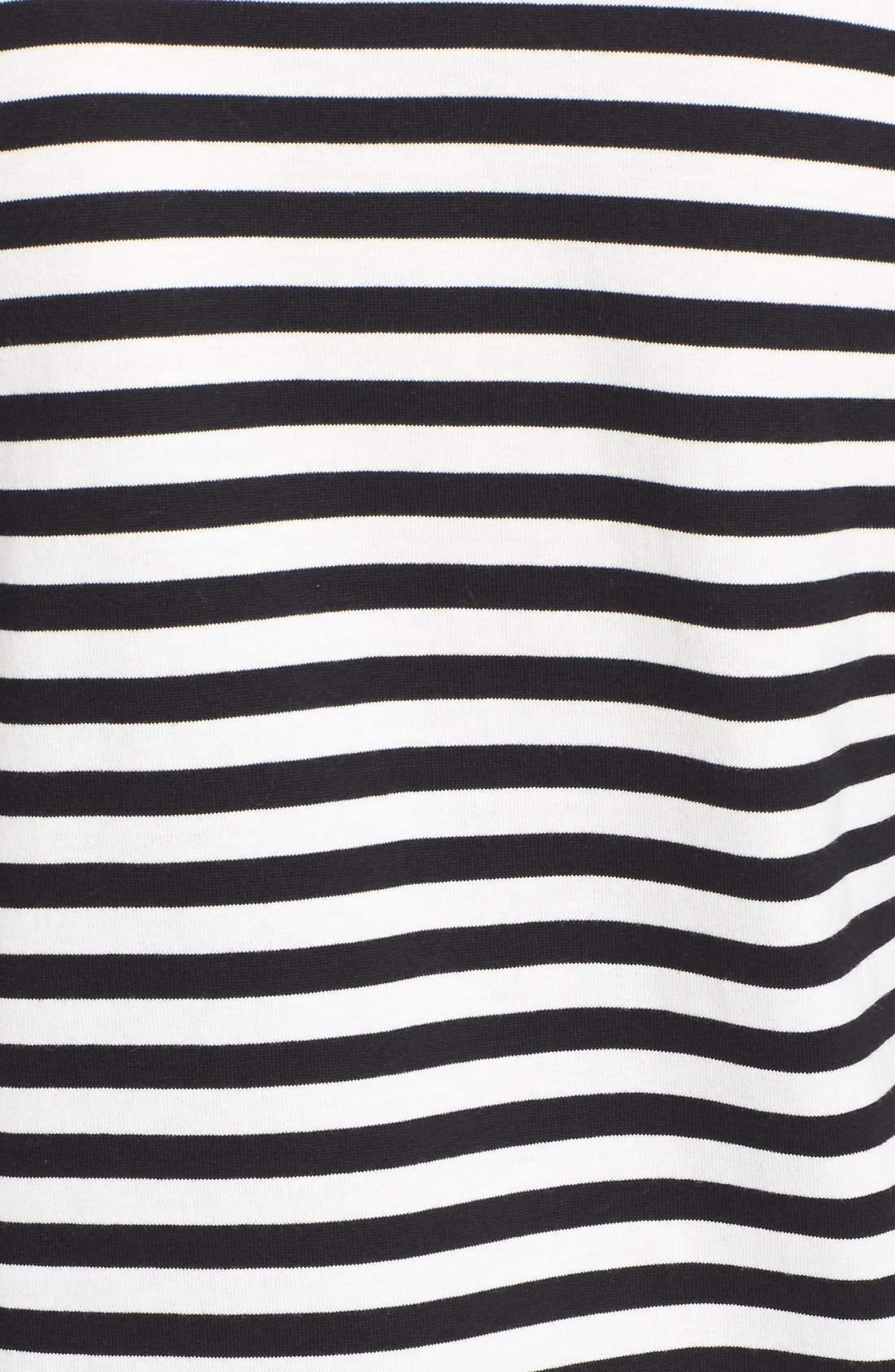 'Play' Stripe Cotton Tee,                             Alternate thumbnail 5, color,                             Black/ White
