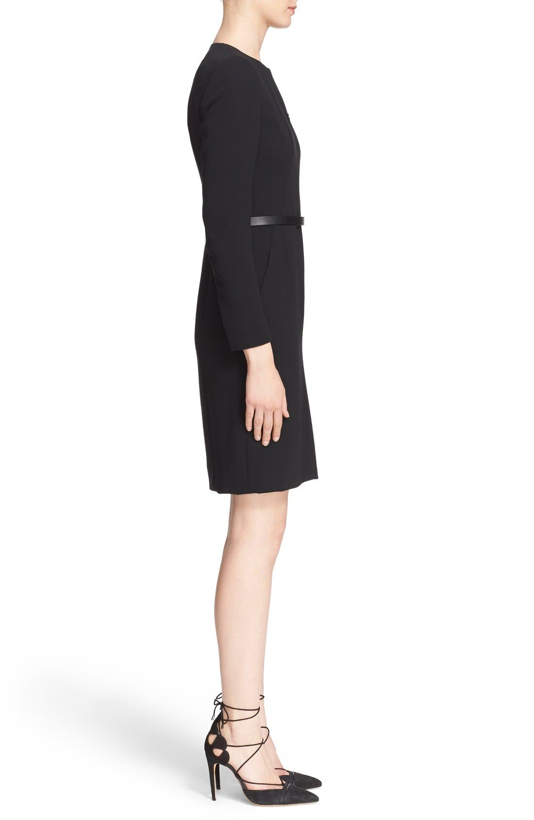 Alternate Image 5  - Akris Belted Zip Front Wool Blend Dress