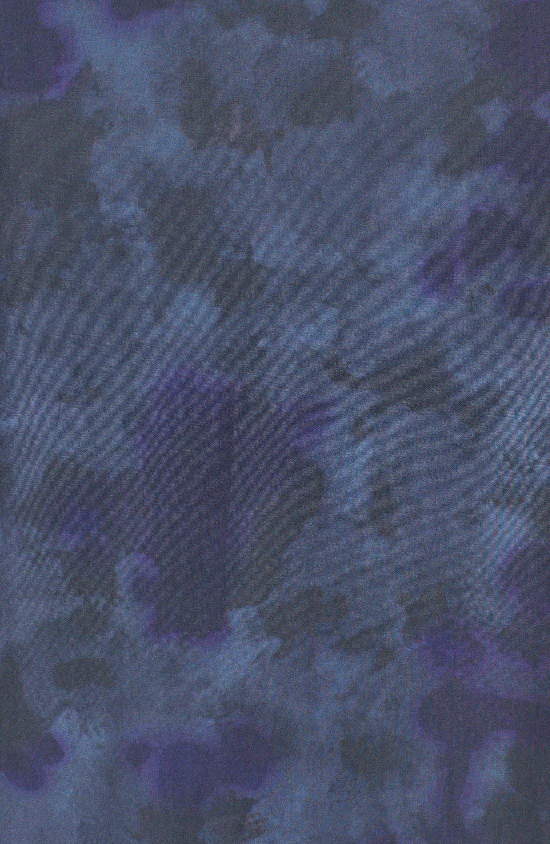 Edoslime Extra Trim Fit Print Woven Shirt,                             Alternate thumbnail 5, color,                             Dark Blue