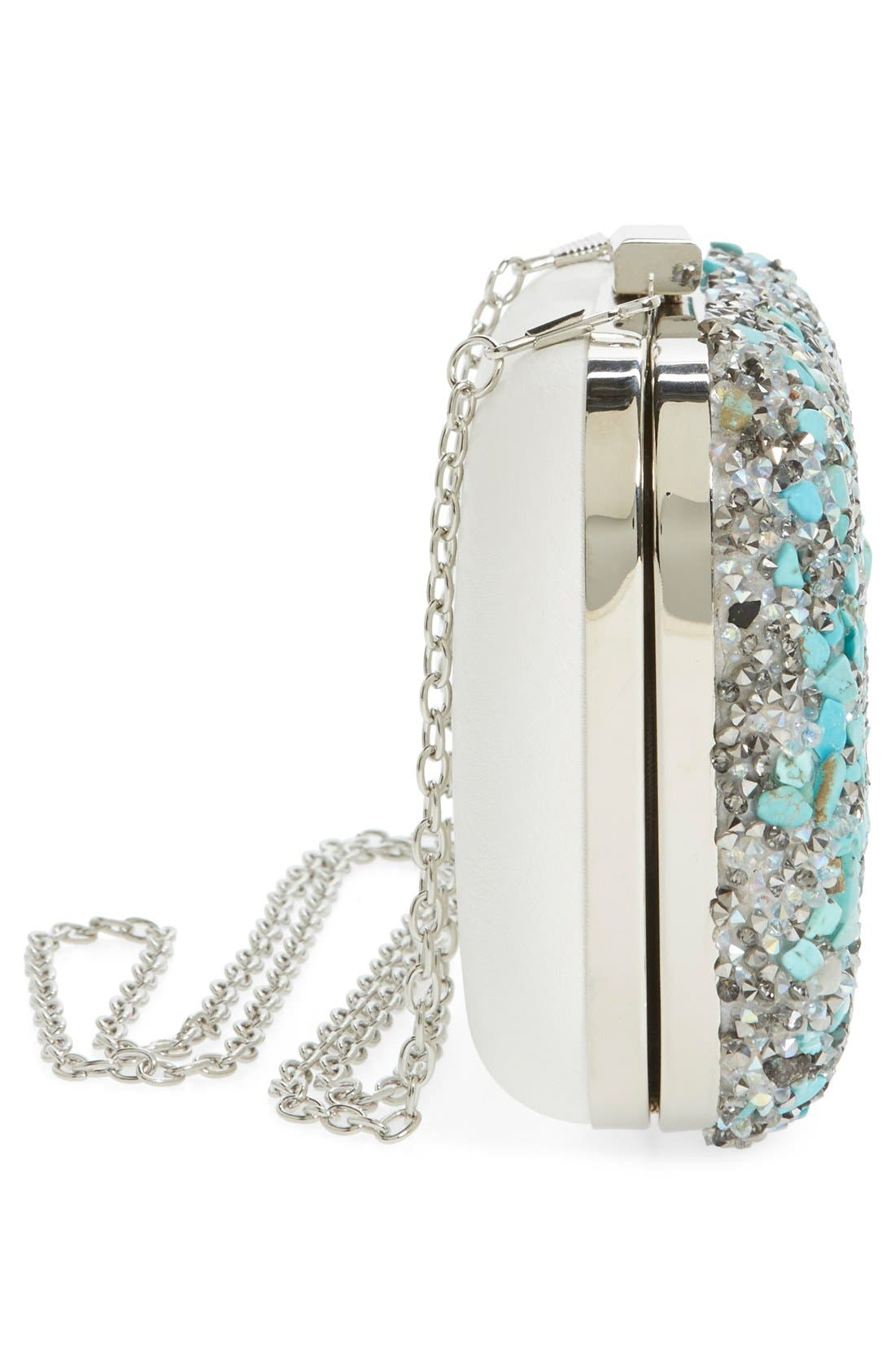 Alternate Image 5  - Natasha Couture Stone & Crystal Clutch