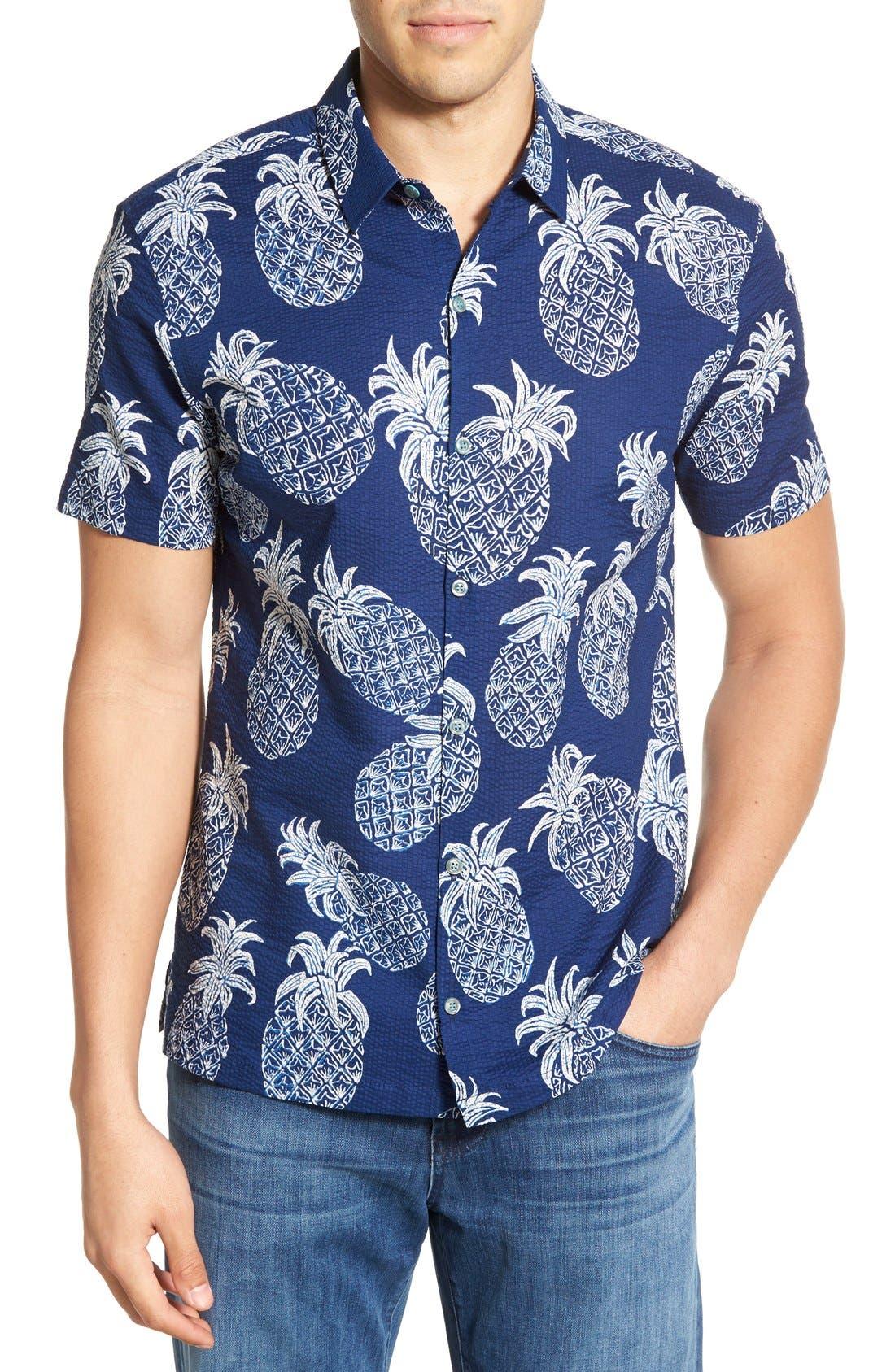 Tori Richard 'Sweet Tart' Regular Fit Short Sleeve Sport Shirt