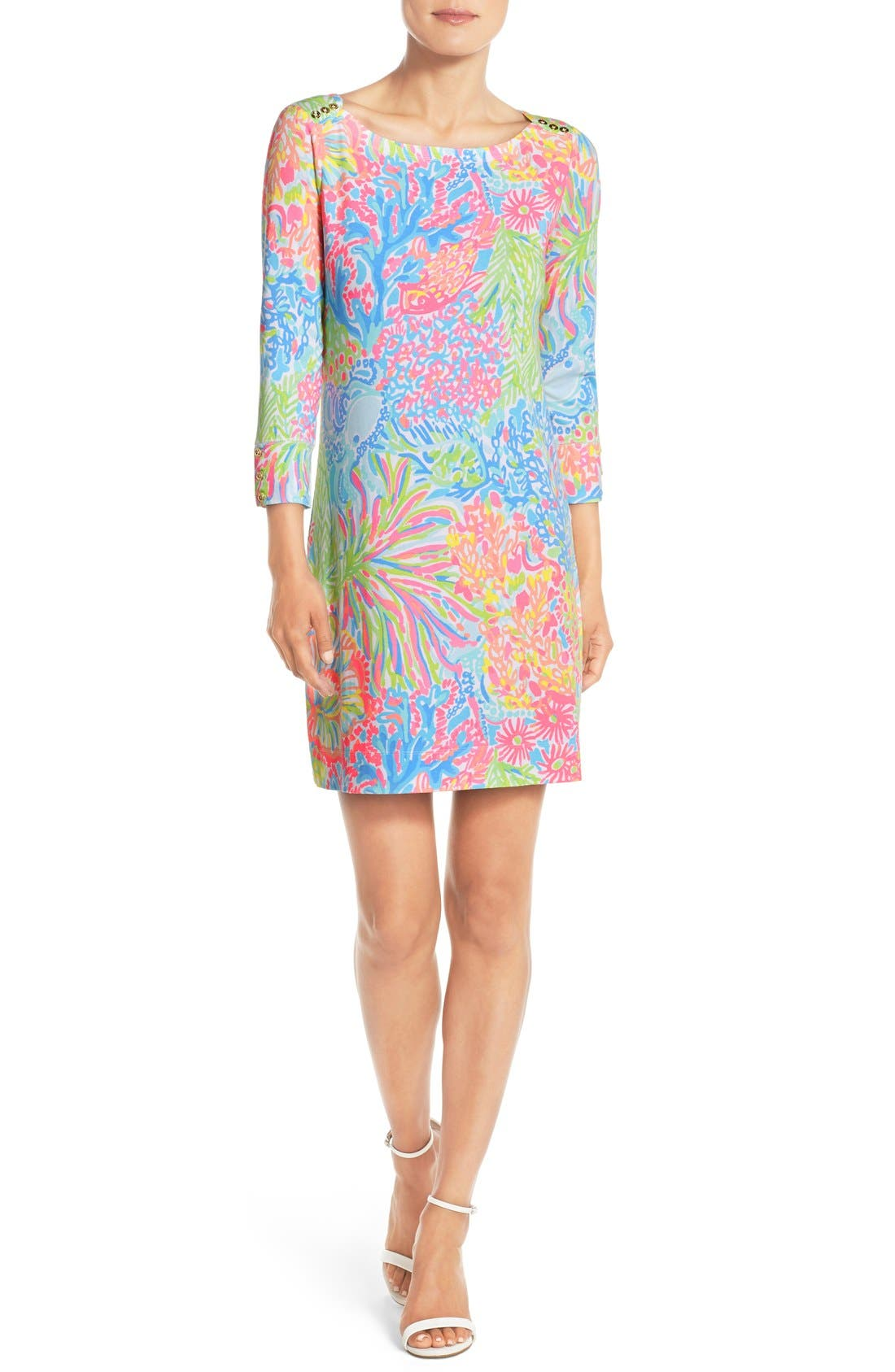 Alternate Image 3  - Lilly Pulitzer® 'Sophie' Print Jersey Shift Dress (UPF 50)