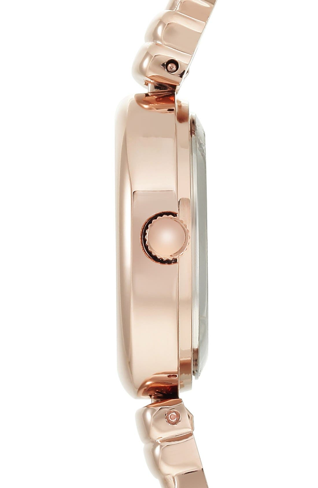 Diamond Dial Bangle Watch, 24mm,                             Alternate thumbnail 3, color,                             Rose Gold/ Mother Of Pearl