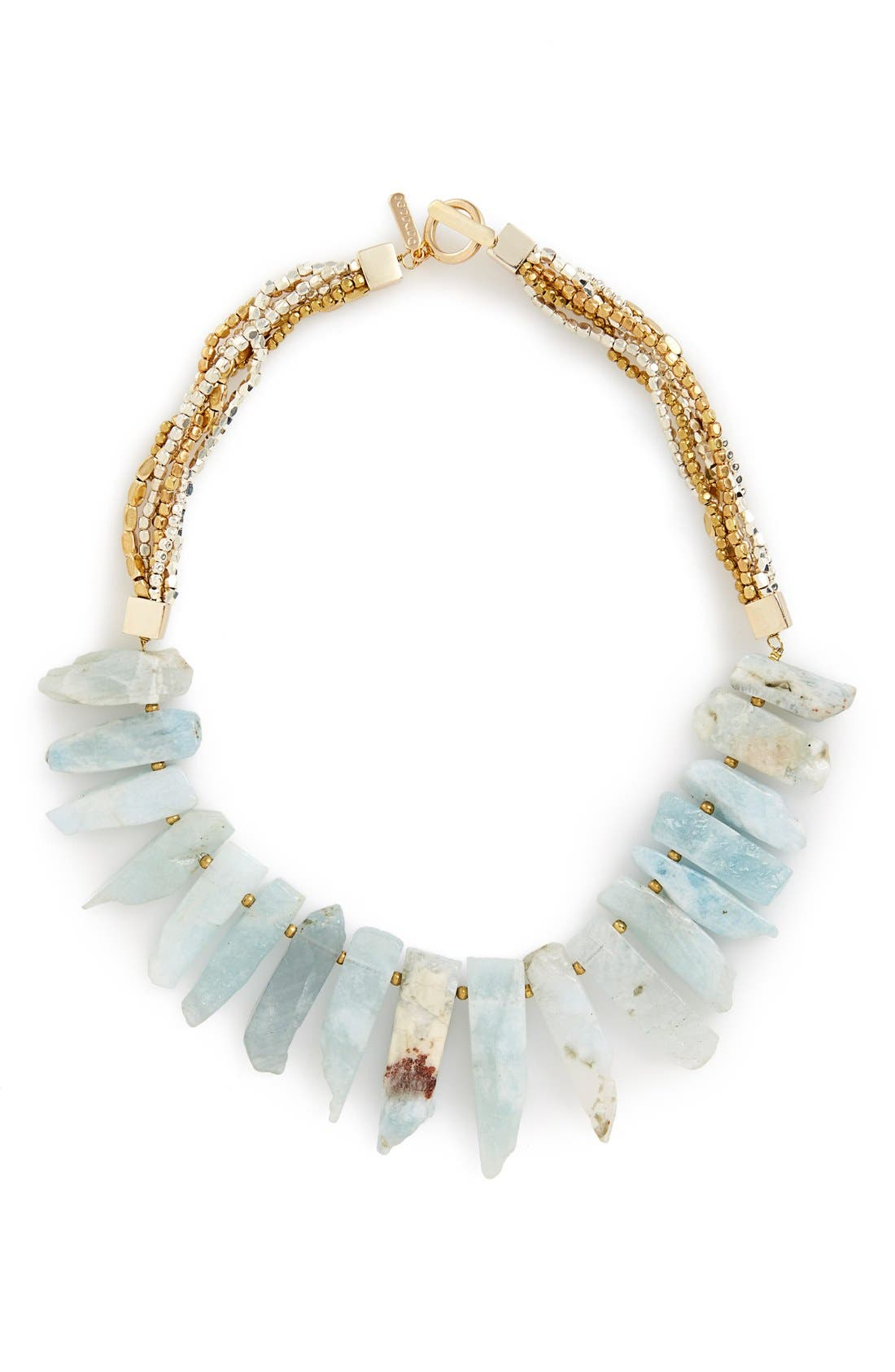 Main Image - Panacea Aquamarine Beaded Bib Necklace