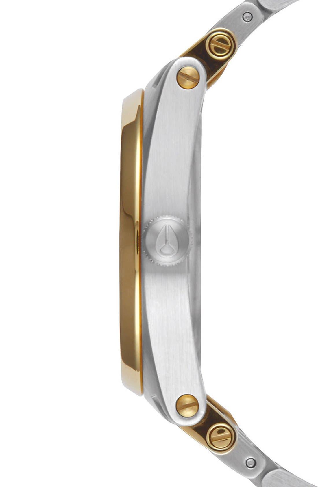 'Jane' Bracelet Watch, 35mm,                             Alternate thumbnail 3, color,                             Silver/ White