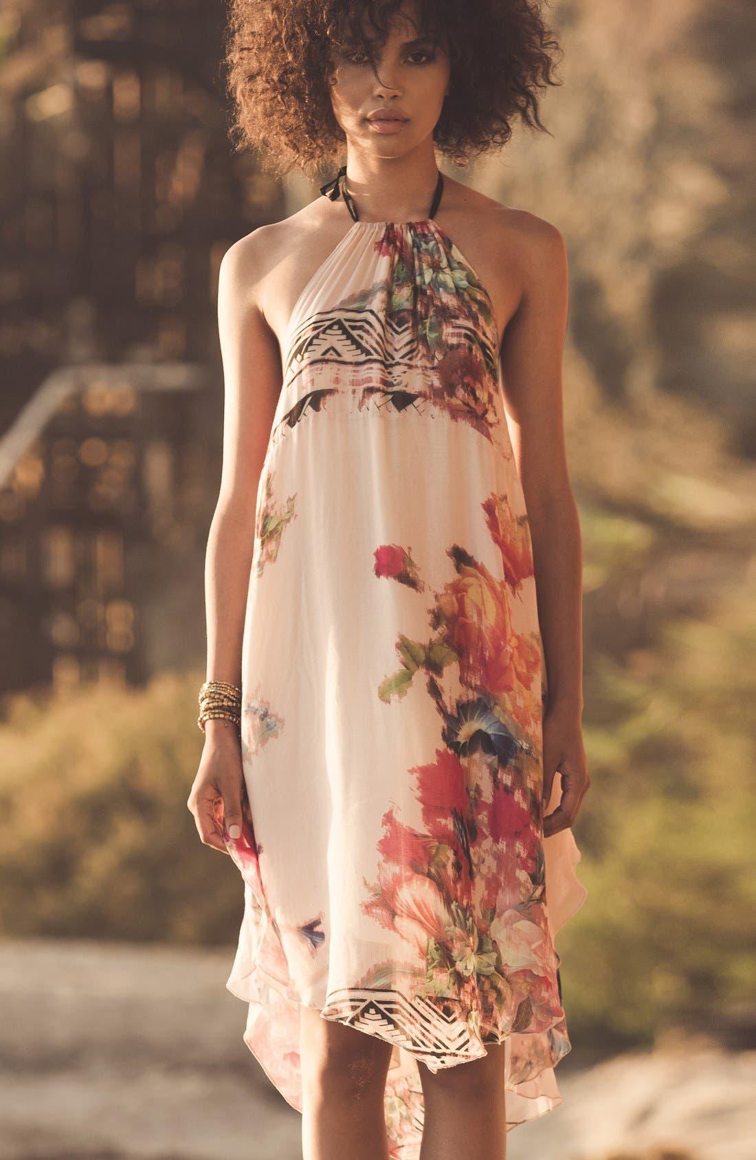 Alternate Image 3  - O'Neill 'Rosette' Mixed Print Halter Dress