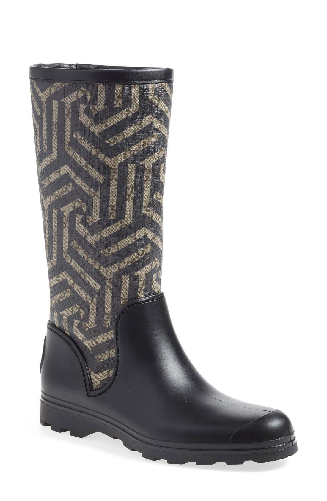 Gucci 'Prato' Rain Boot (Women)