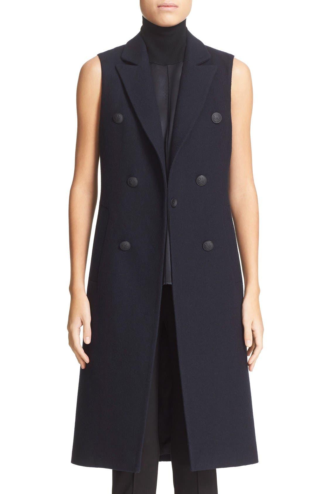 Main Image - rag & bone 'Faye' Longline Double Breasted Wool Blend Vest