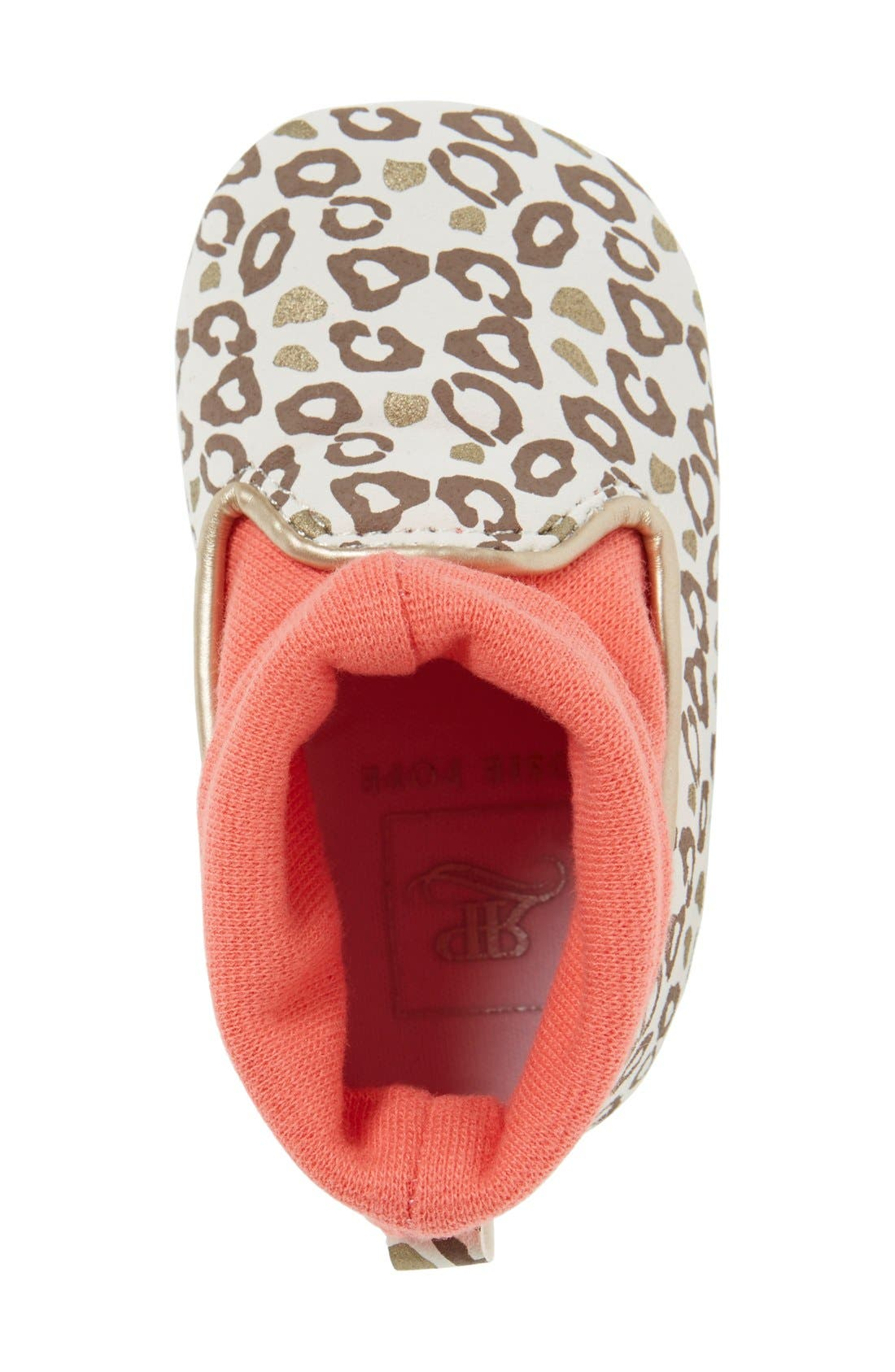 Alternate Image 3  - Rosie Pope 'Playful Leopard' Crib Shoe (Baby)