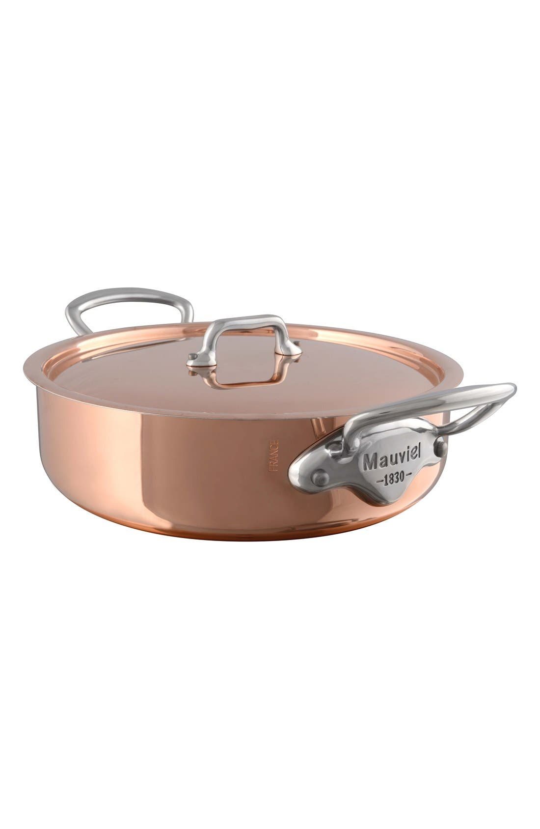 Main Image - Mauviel M'héritage - M'150s Copper & Stainless Steel Rondeau with Lid