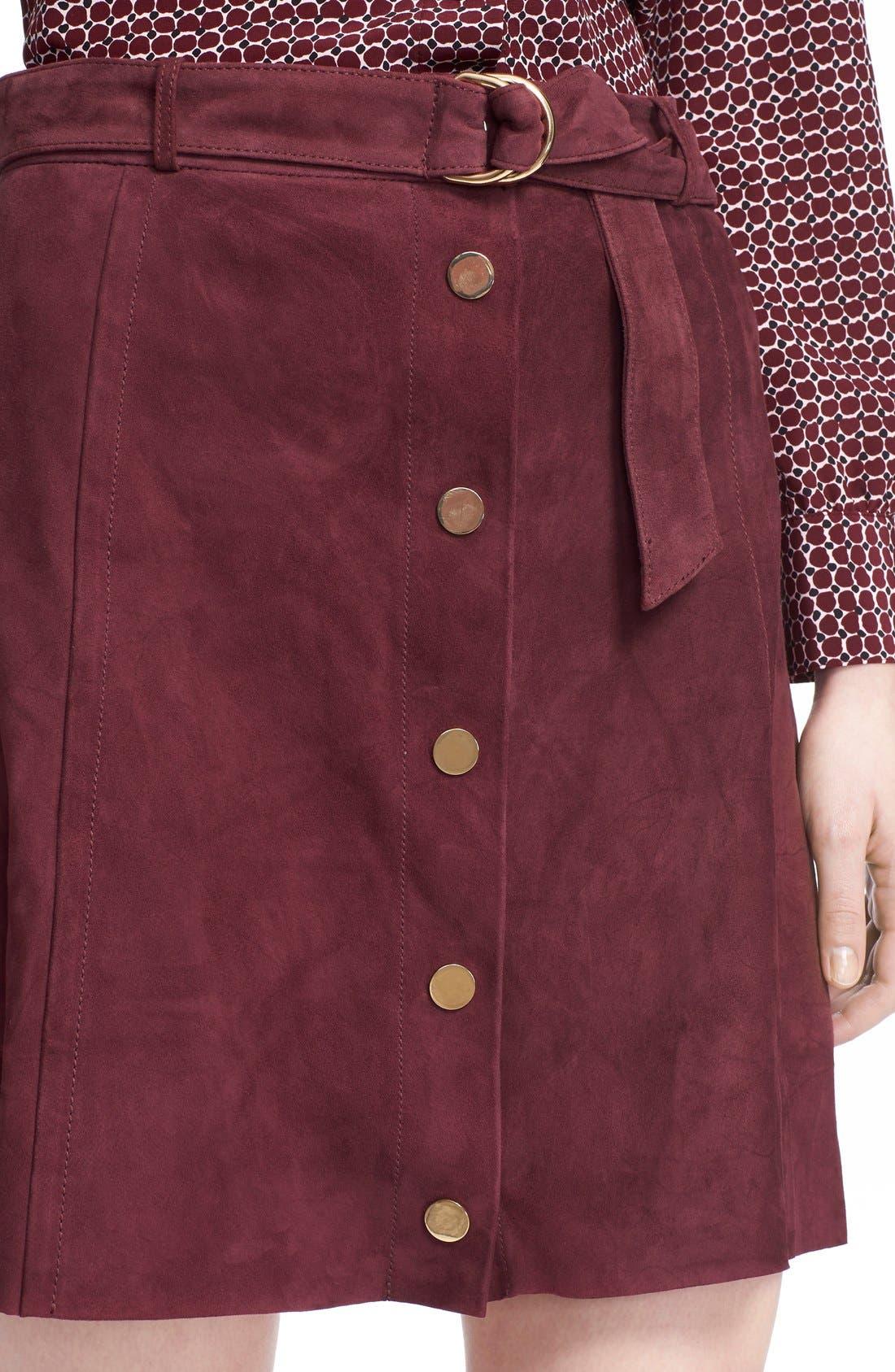 Alternate Image 4  - kate spade new york belted suede a-line skirt