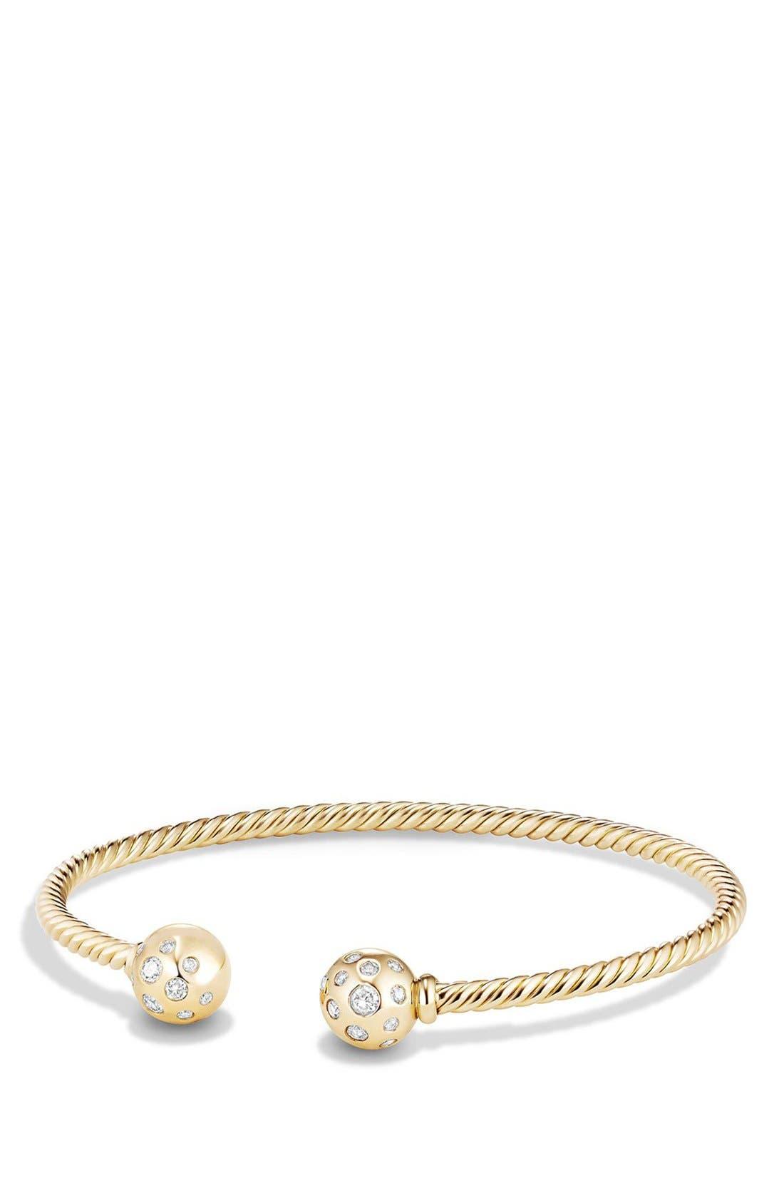 Alternate Image 1 Selected - David Yurman 'Solari' Bracelet with Diamonds in 18K Gold