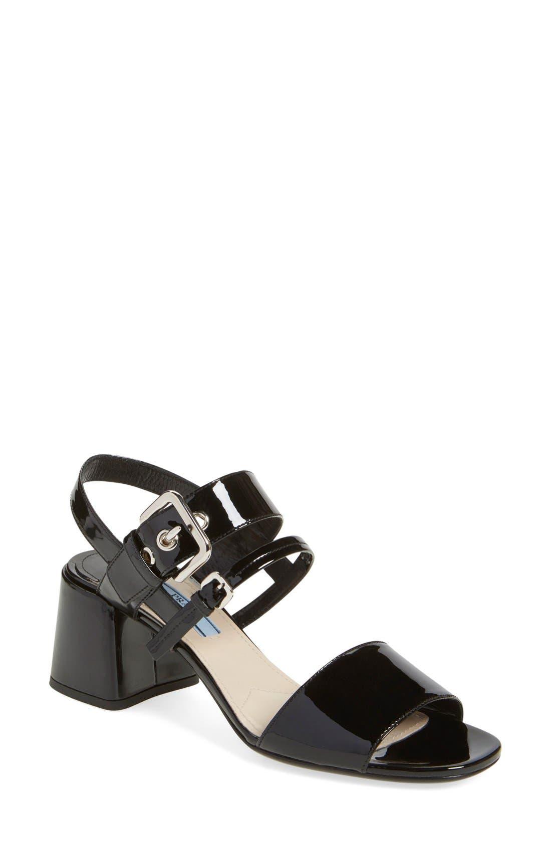 Alternate Image 1 Selected - Prada Block Heel Sandal (Women)
